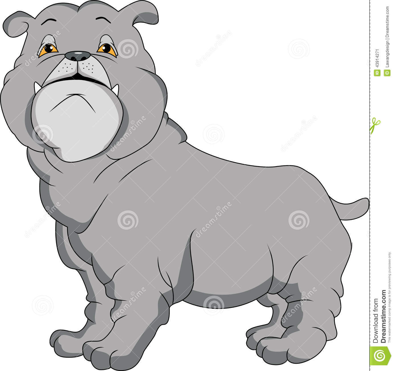Cute english bulldog cartoon - photo#25
