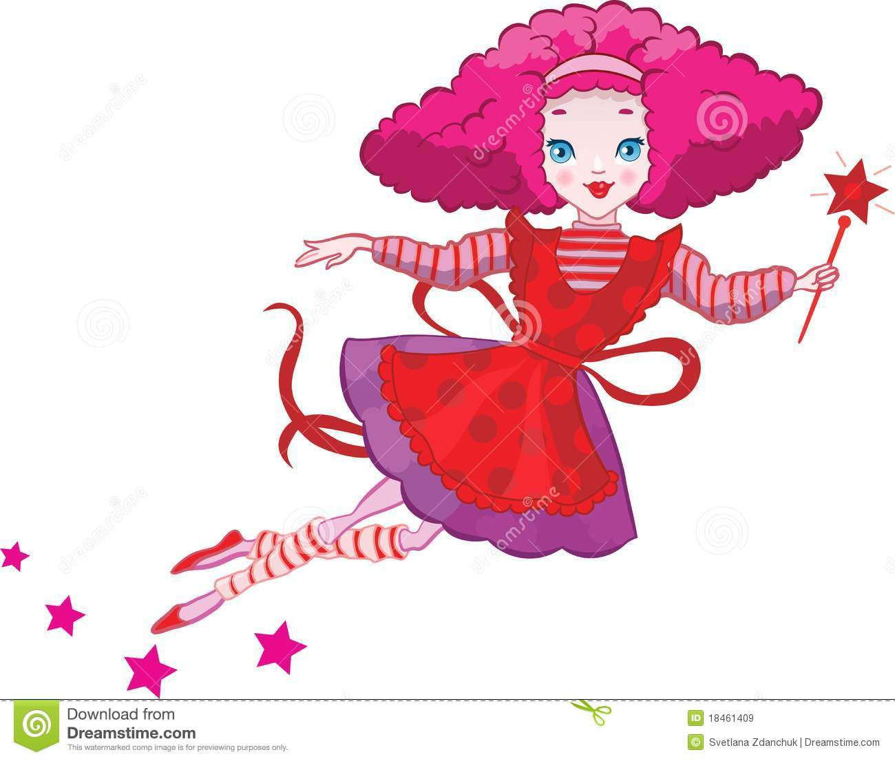 cute fairy cartoon royalty free stock images image 18461409