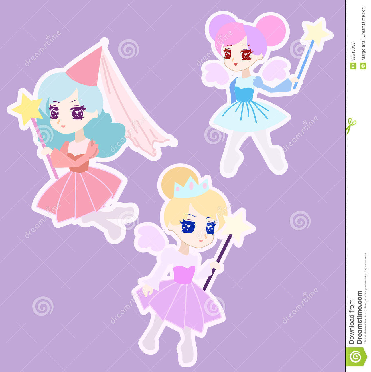 Awesome Cute Fairy Princess Character With Wings Royalty Free Stock Photos Hairstyle Inspiration Daily Dogsangcom