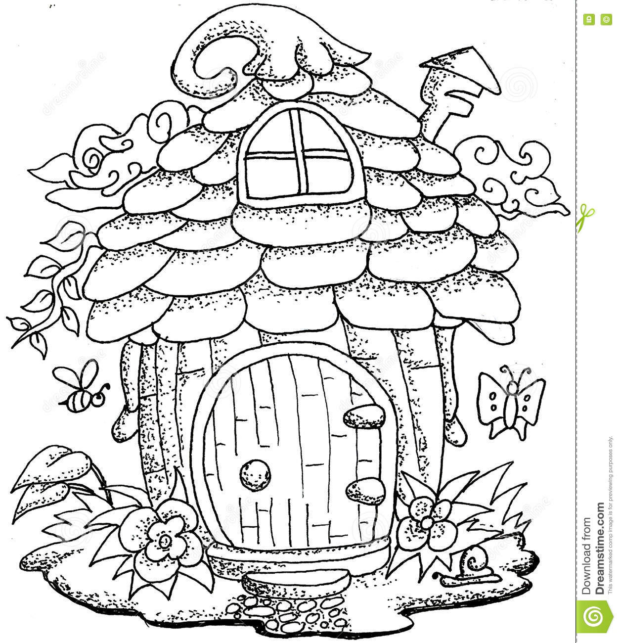 Houses Of Mushrooms Coloring Pages Free Printables Houses