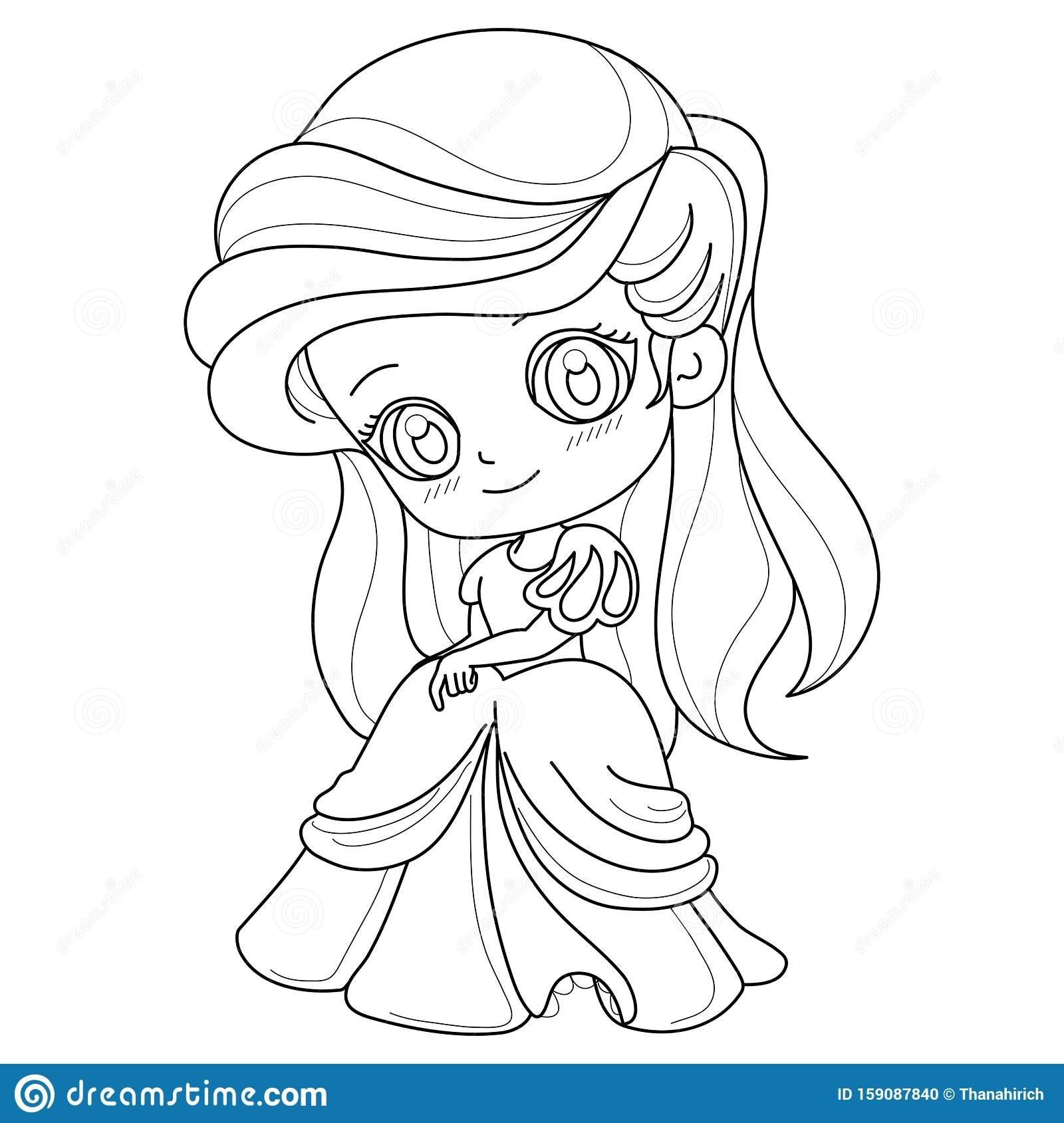 Cute Fairy-tale Princess On A White Background For ...