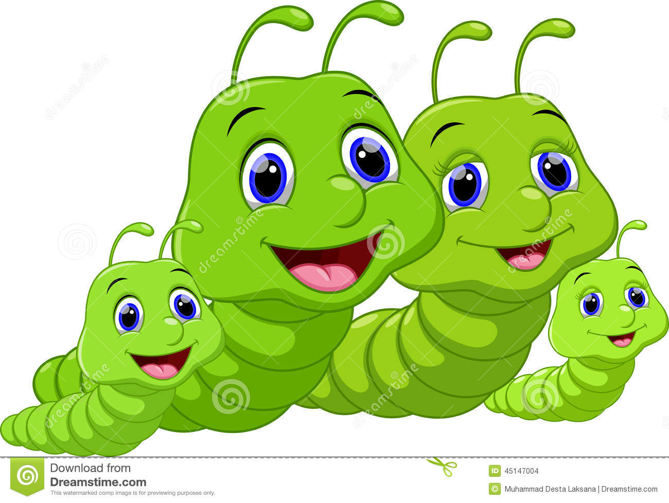 Cute Worm Clipart
