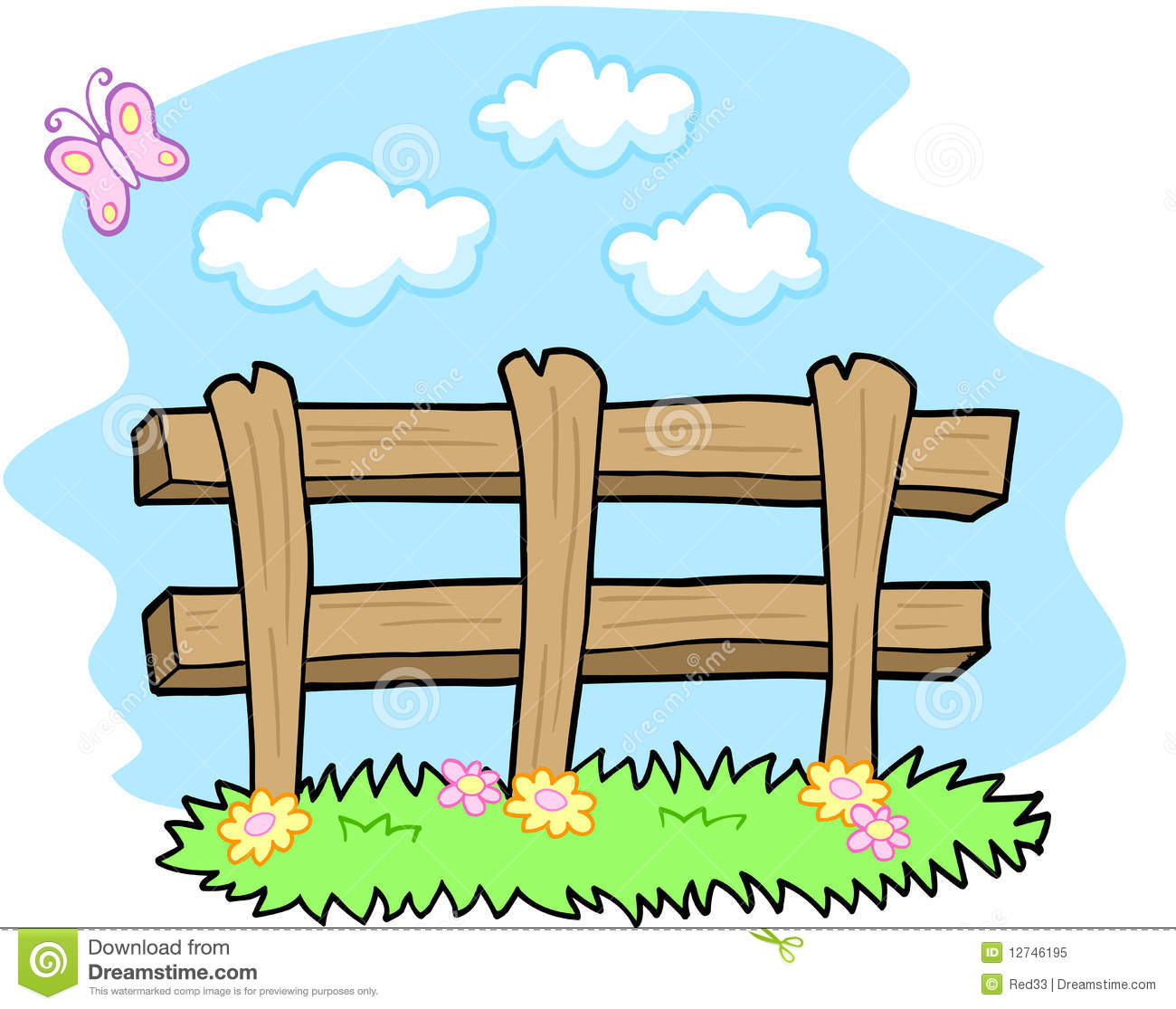 Farm Fence Clipart farm fence clipart black and white