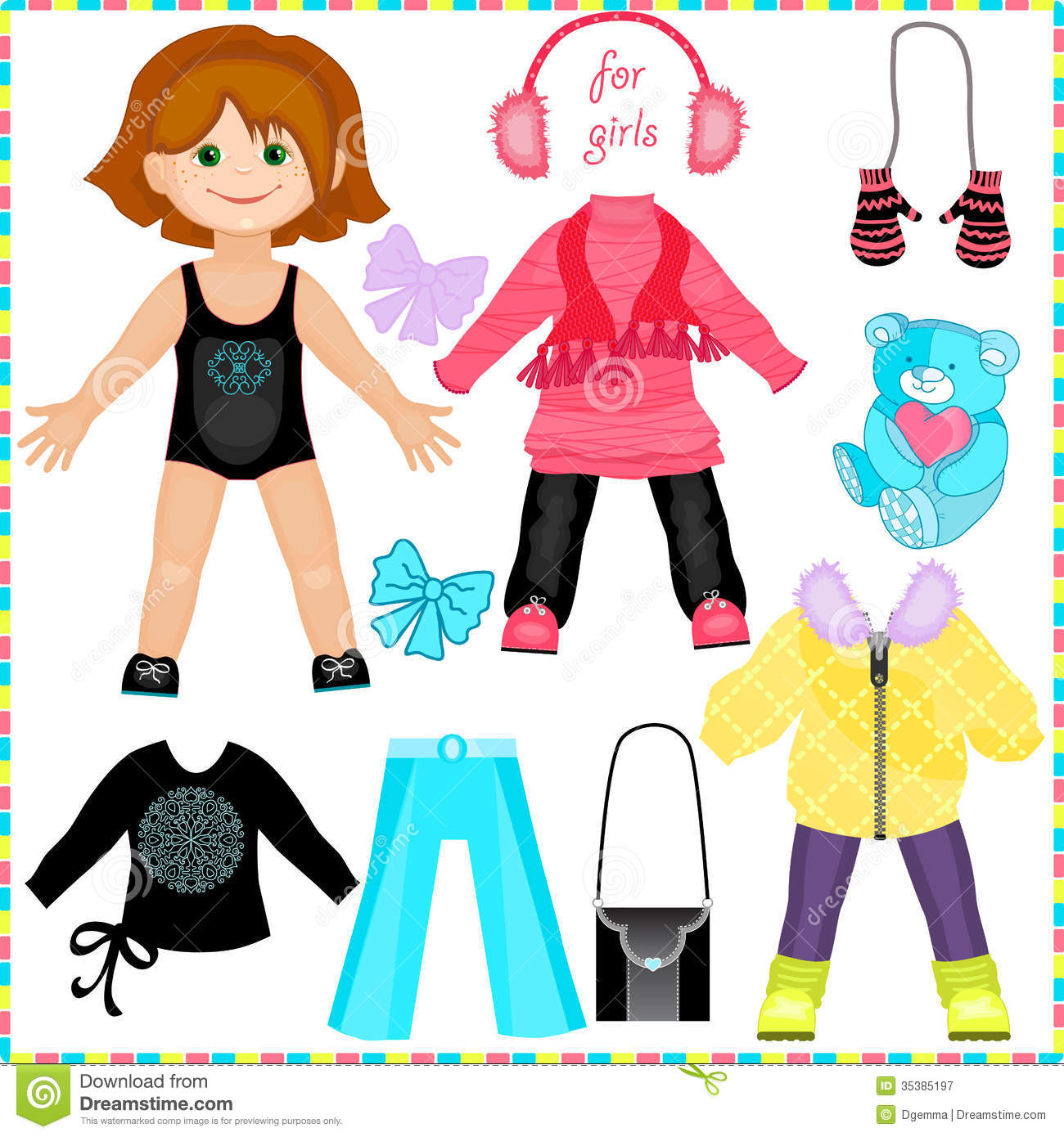 3d paper doll template