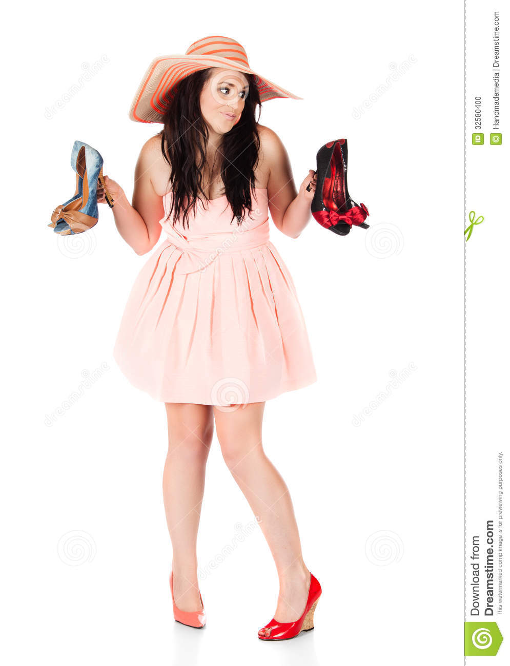 Cute fashion girl stock photo. Image of color, face ...