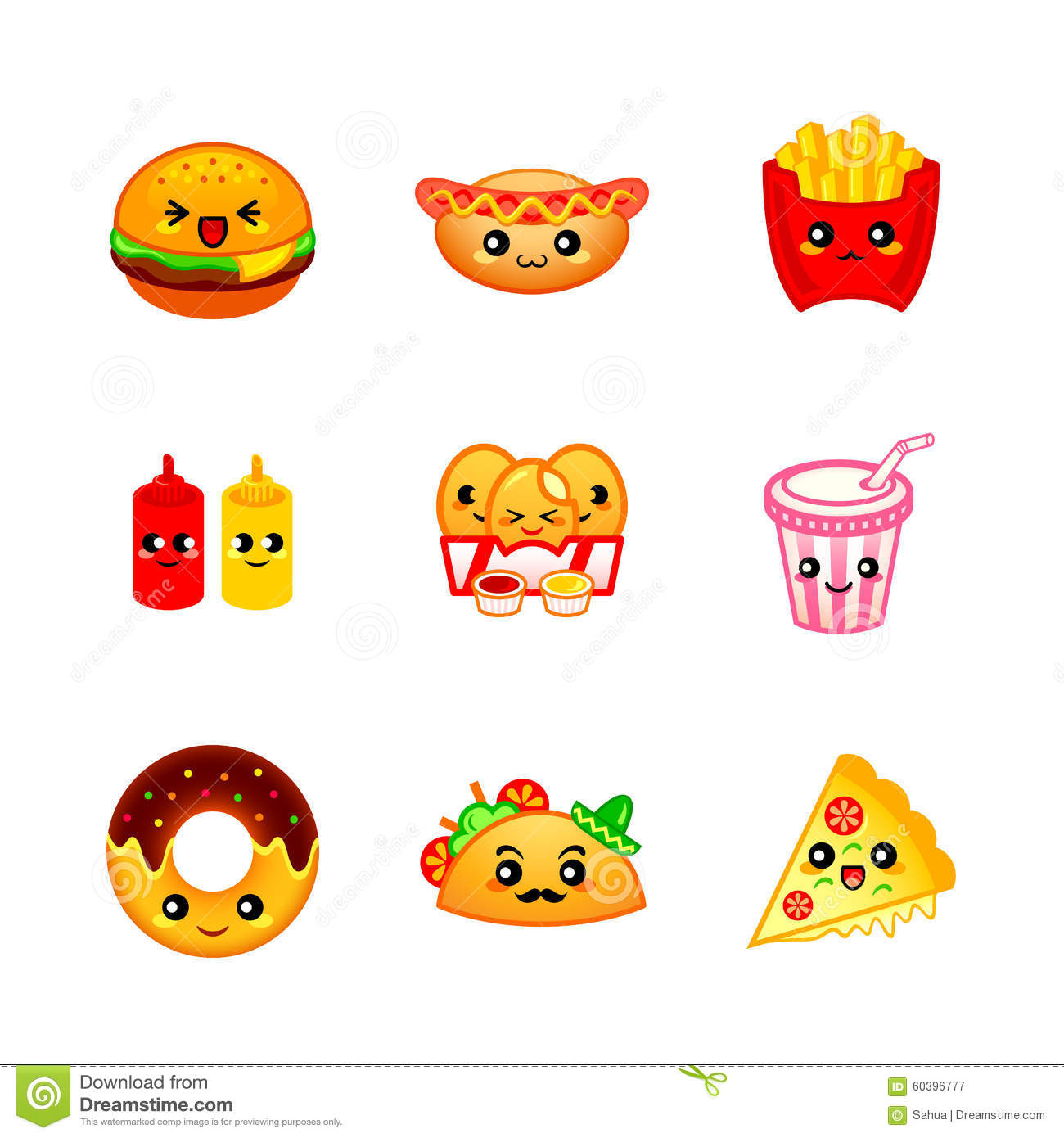Cute Fast Food Icons