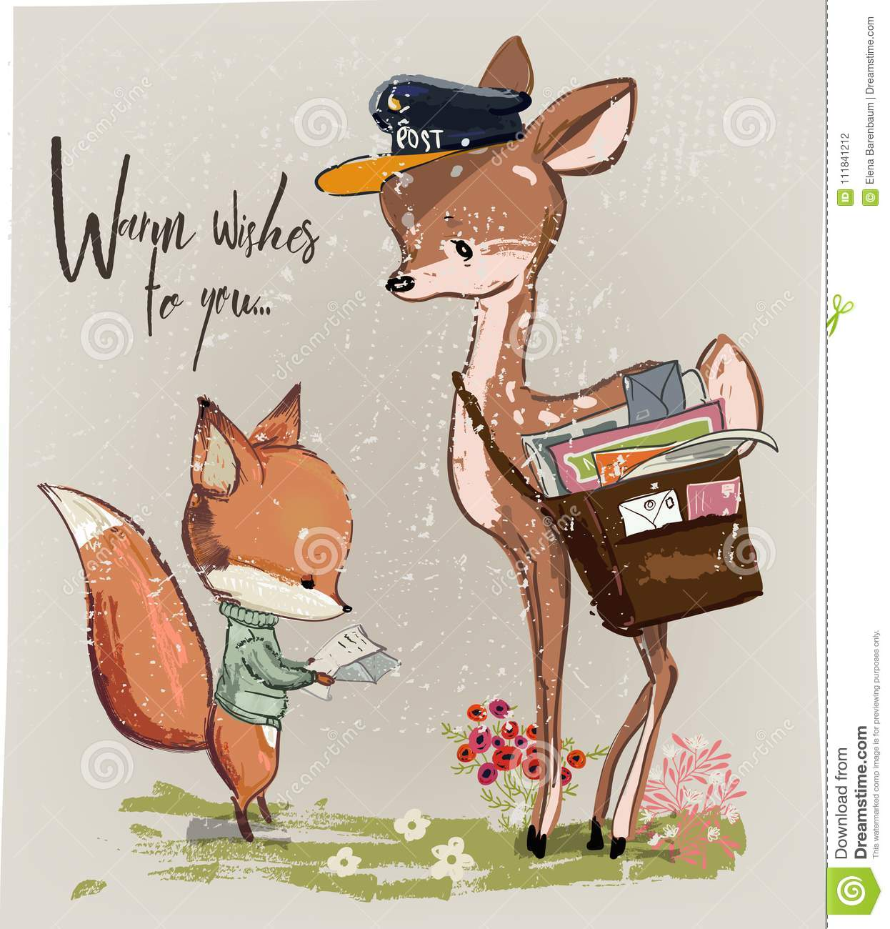 fawn cartoons  illustrations  u0026 vector stock images