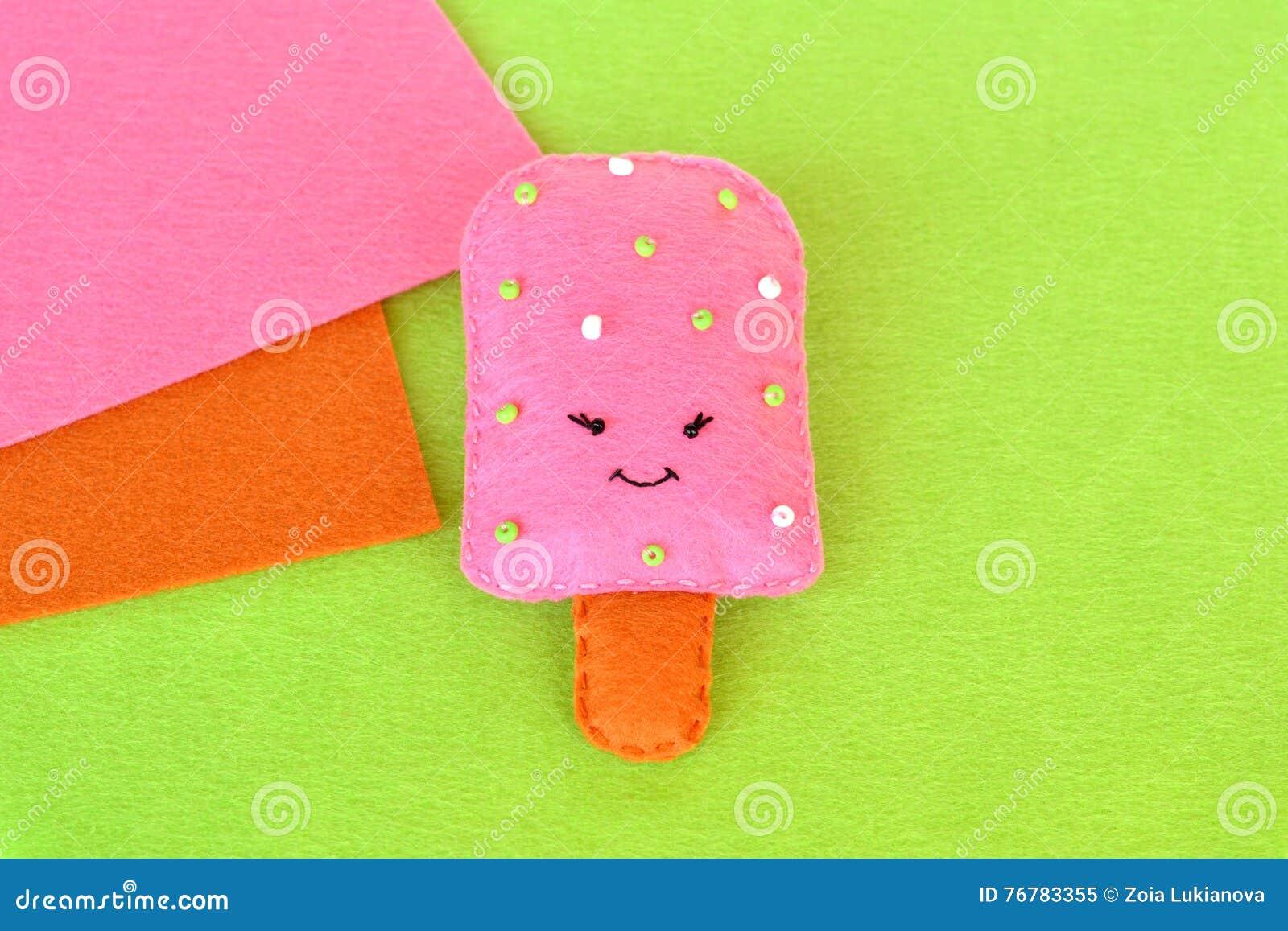 Cute Felt Ice Cream Toy Felt Food Pattern Crafts Felt Food Easy
