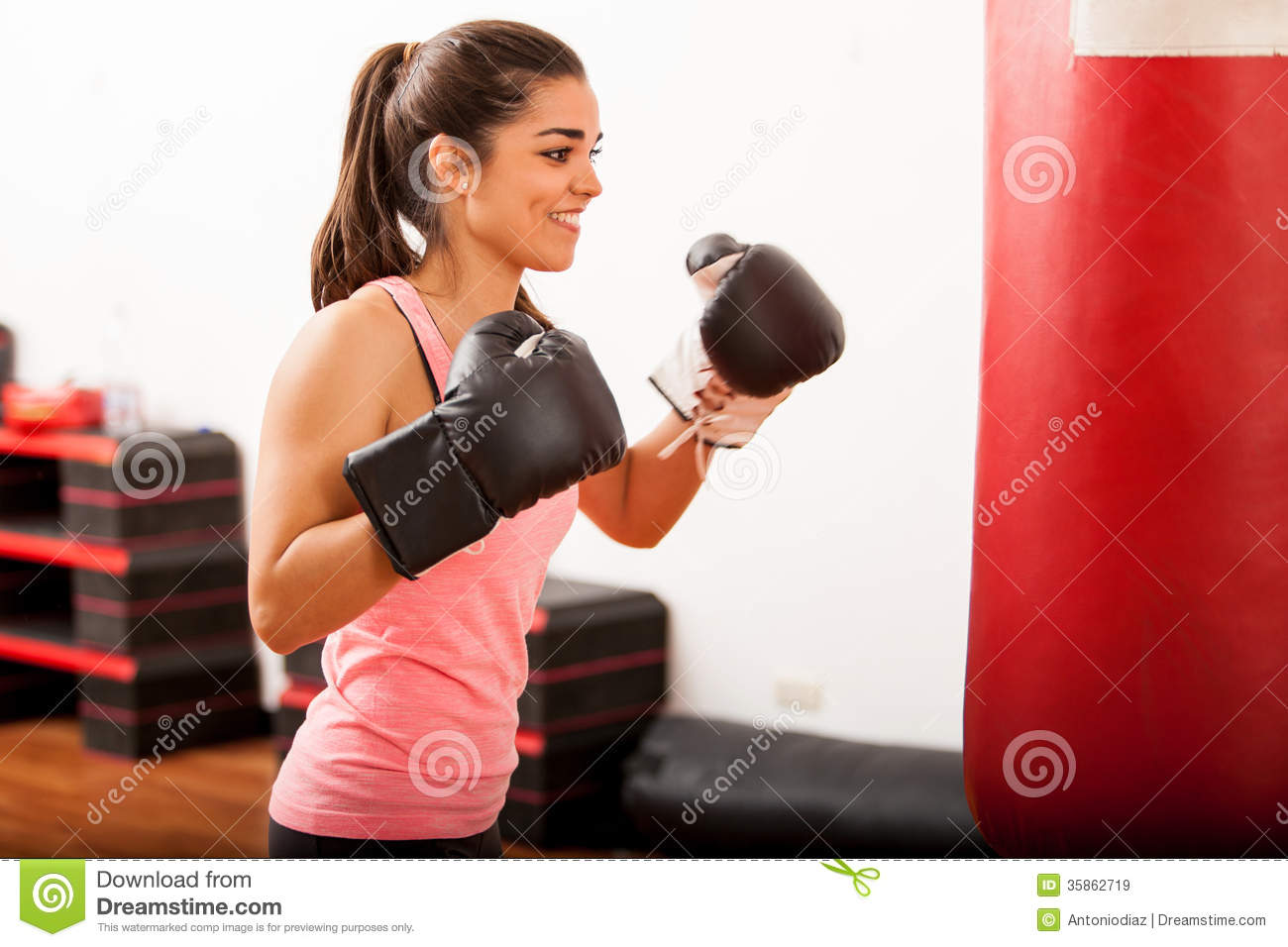 Punch Home Design Studio Download Free Cute Female Boxer Training In A Gym Royalty Free Stock