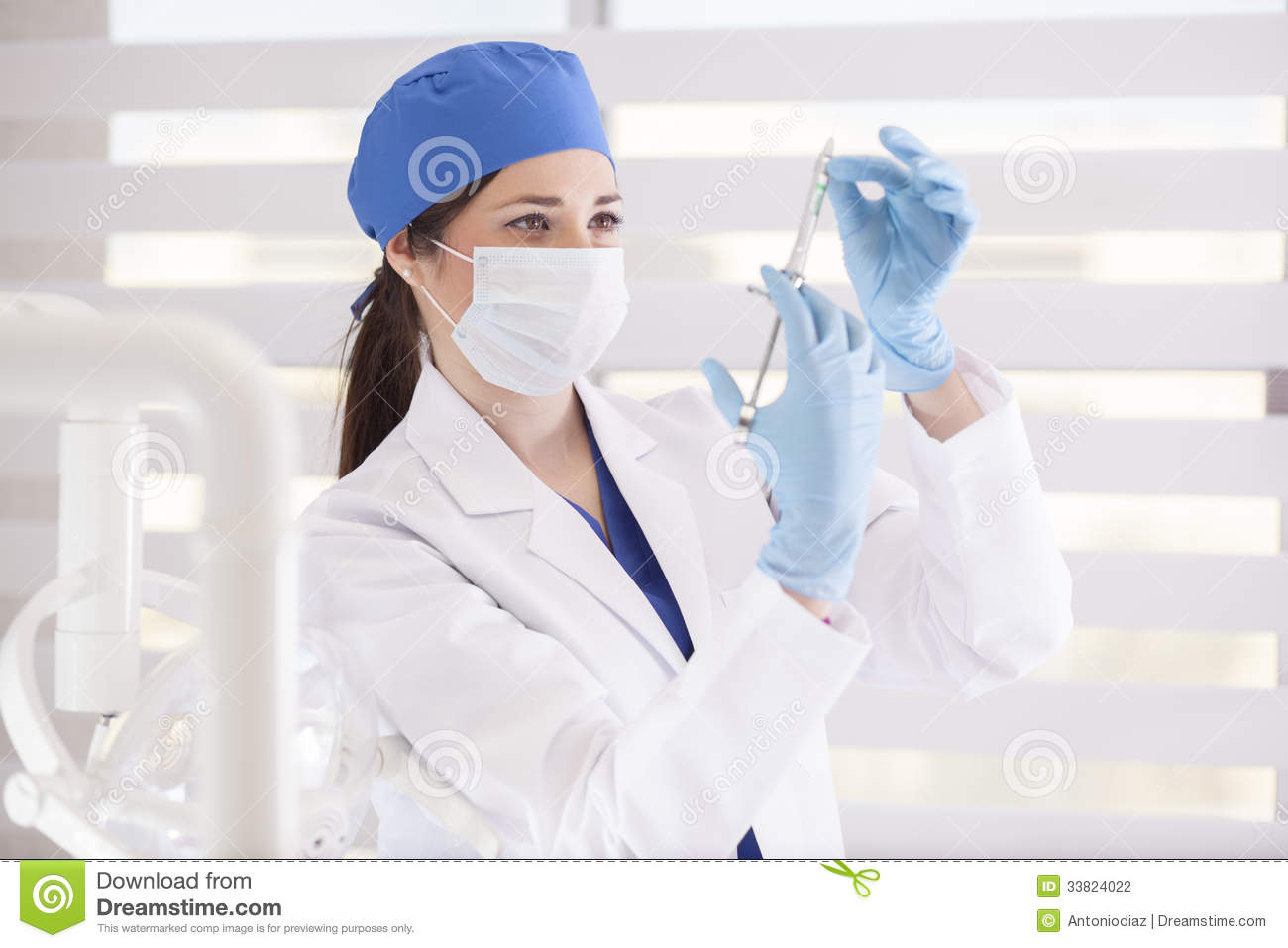 Cute Female Dentist At Work Stock Photography Image