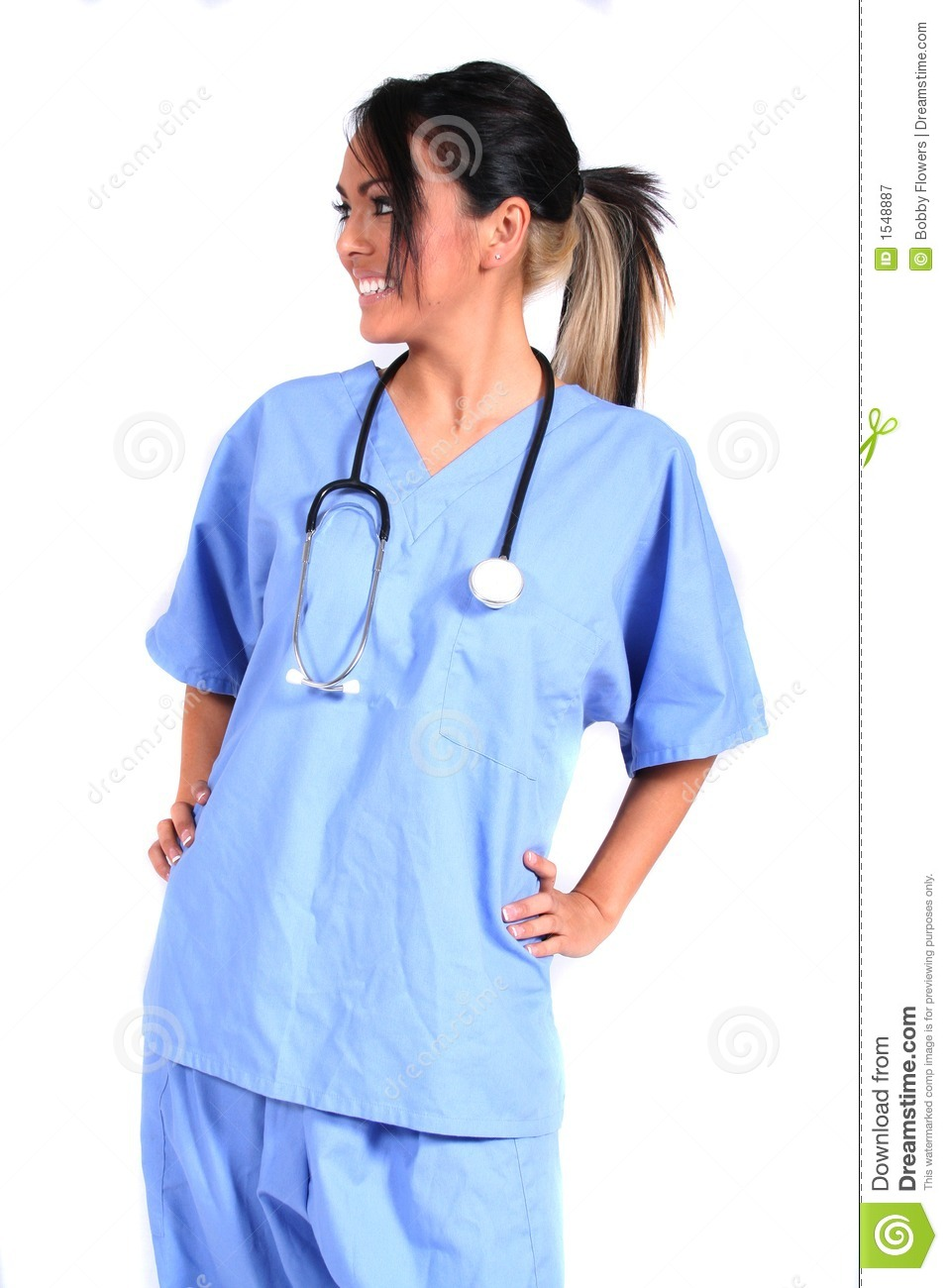 Cute Female Nurse, Doctor, Medical Worker Royalty Free