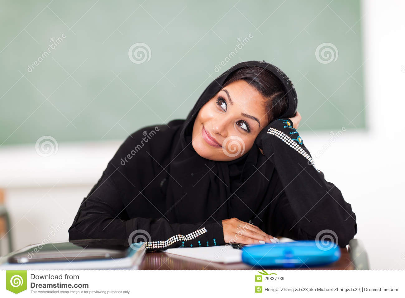 Arabian Student Daydreaming Royalty Free Stock Images ...
