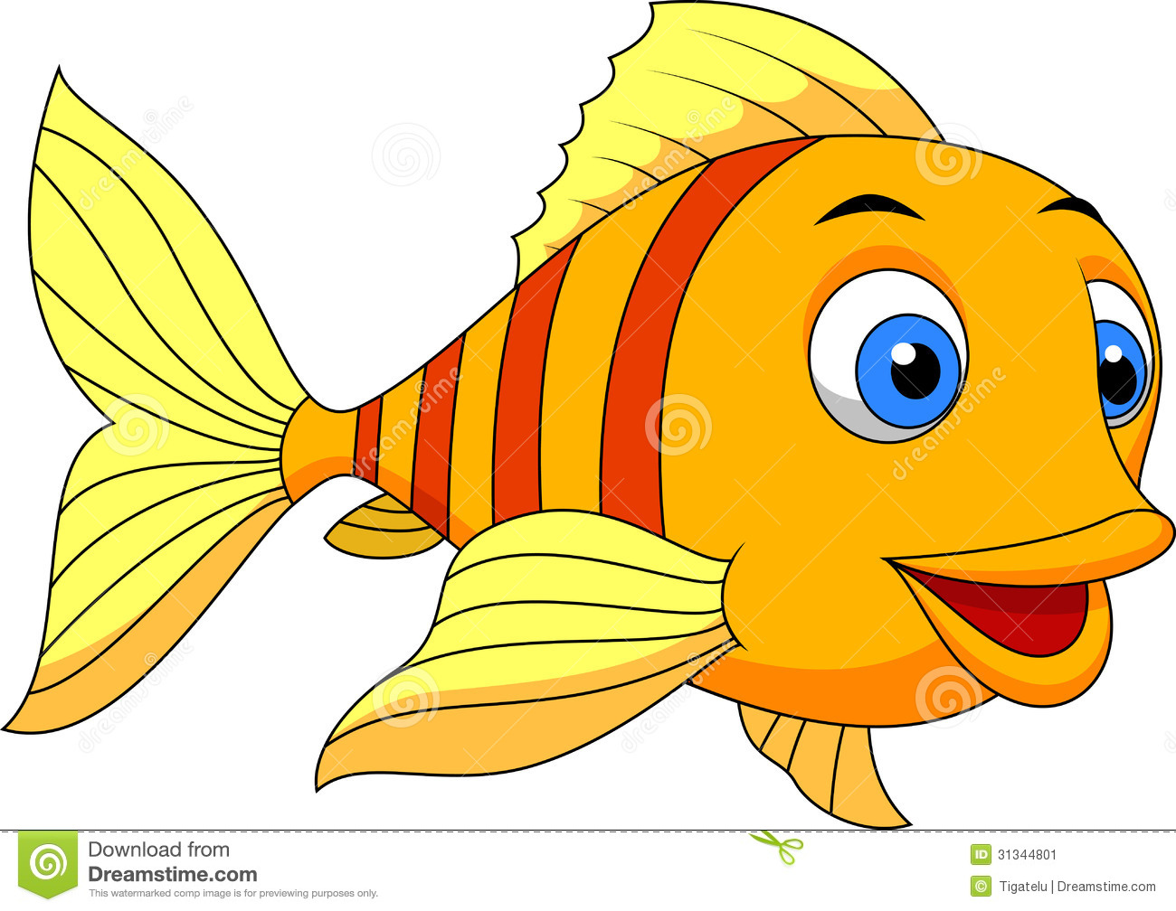 cute fish cartoon stock image image 31344801 clown fish clip art printable free clown fish clipart black and white