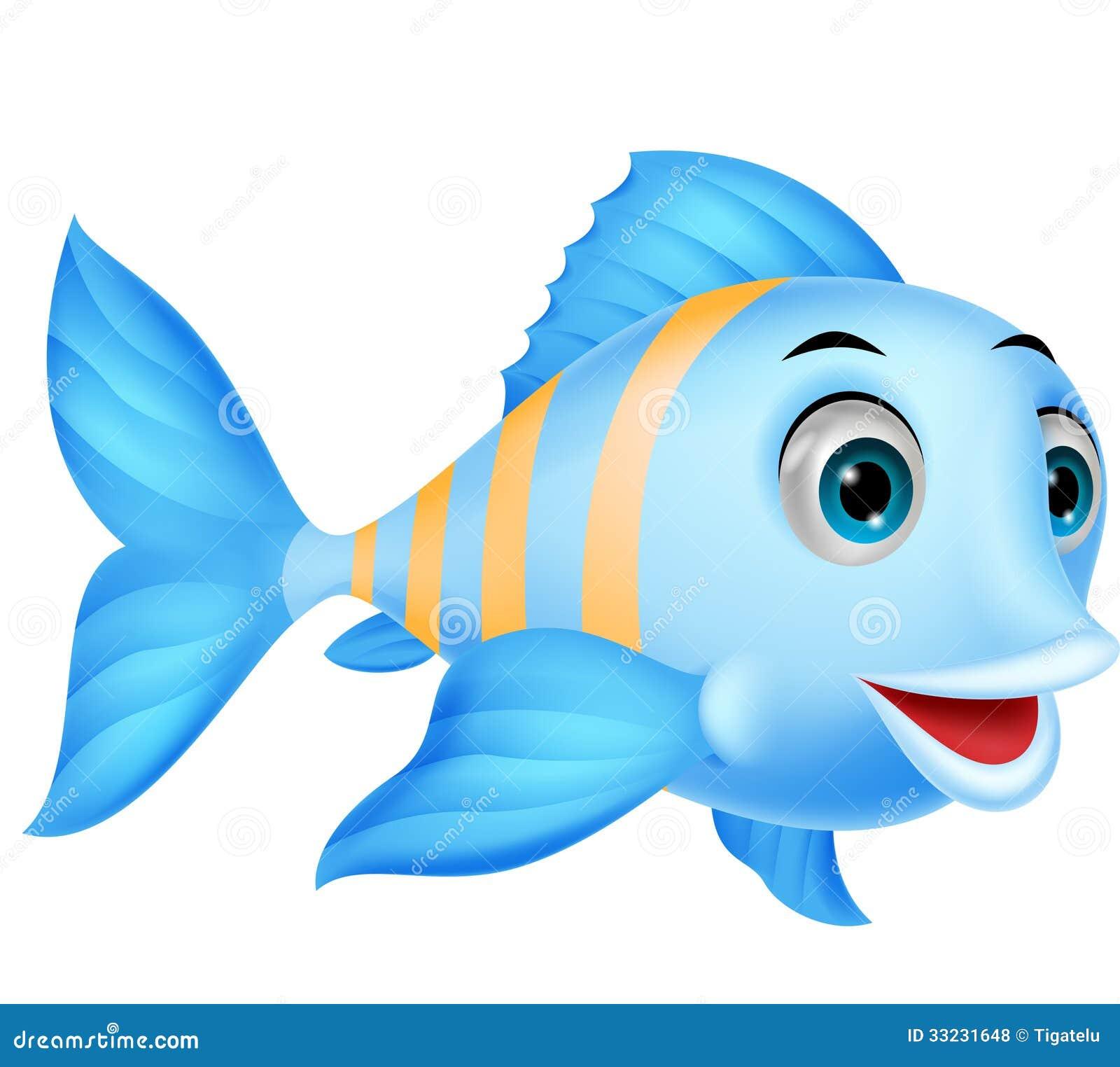 Cute Cartoon Fish. Stock Vector - Image: 55858809