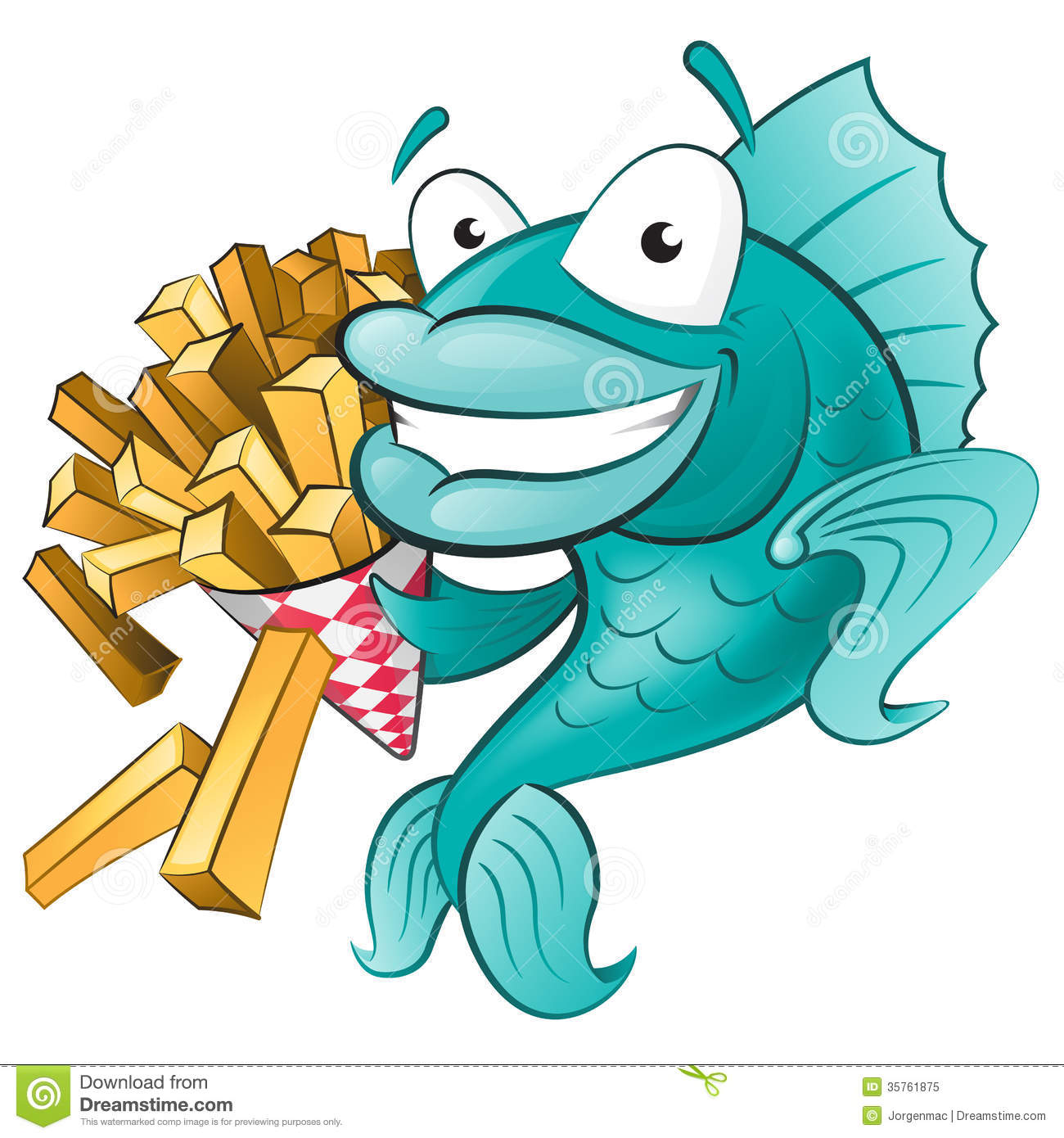 Fish N Chips Cartoon Characters : Cute fish with chips stock vector illustration of gourmet