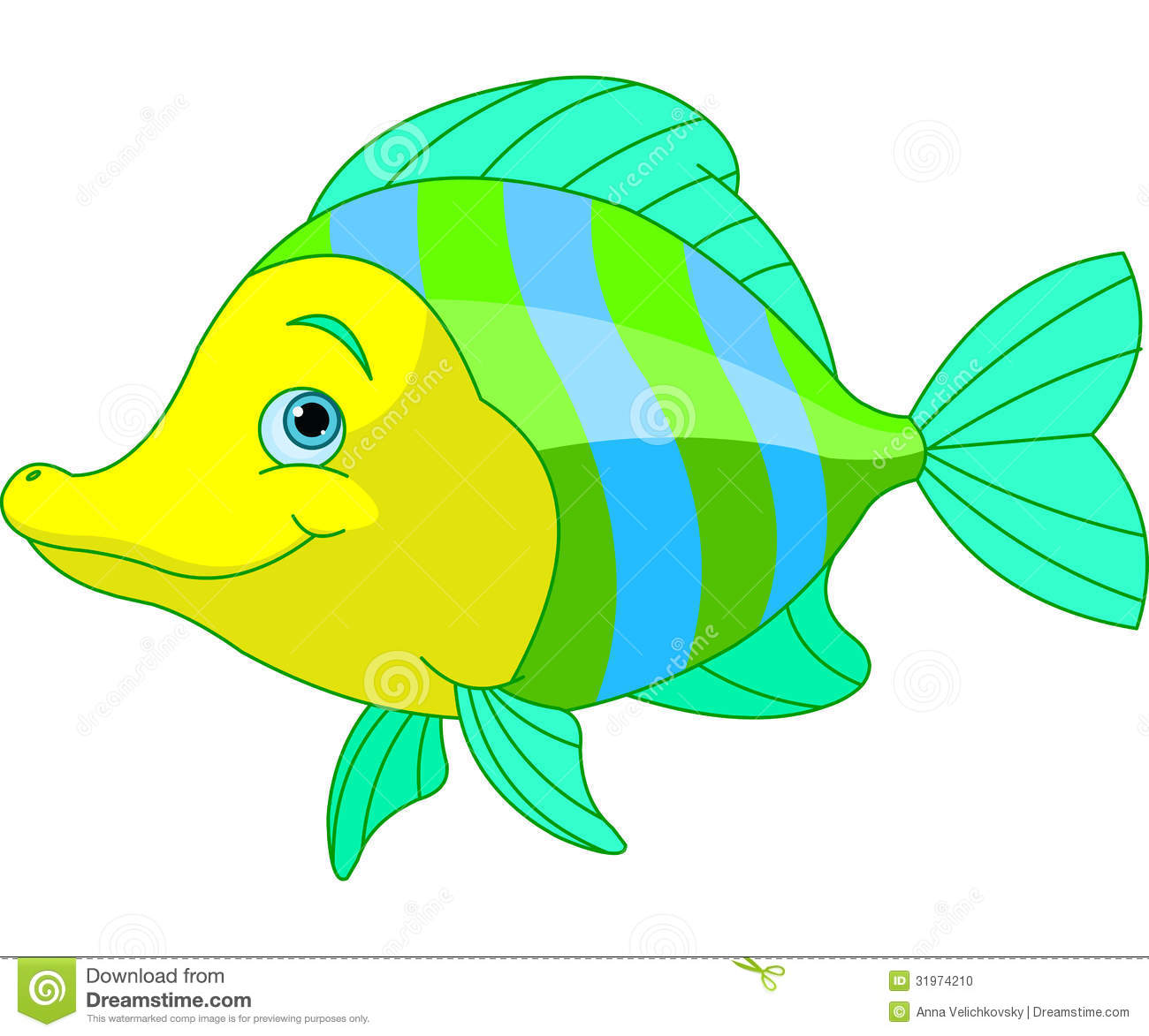 Cute fish stock photo image 31974210 for Cartoon fish pictures