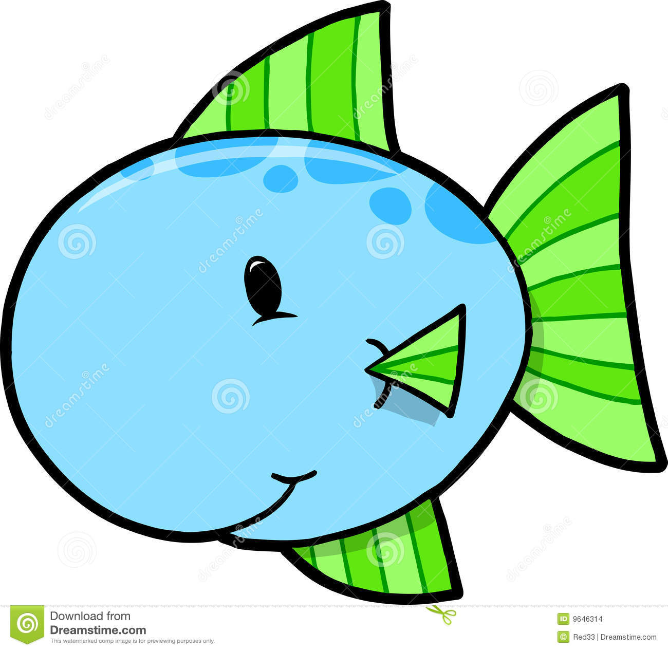 Cute Fish Vector Illustration Stock Images - Image: 9646314