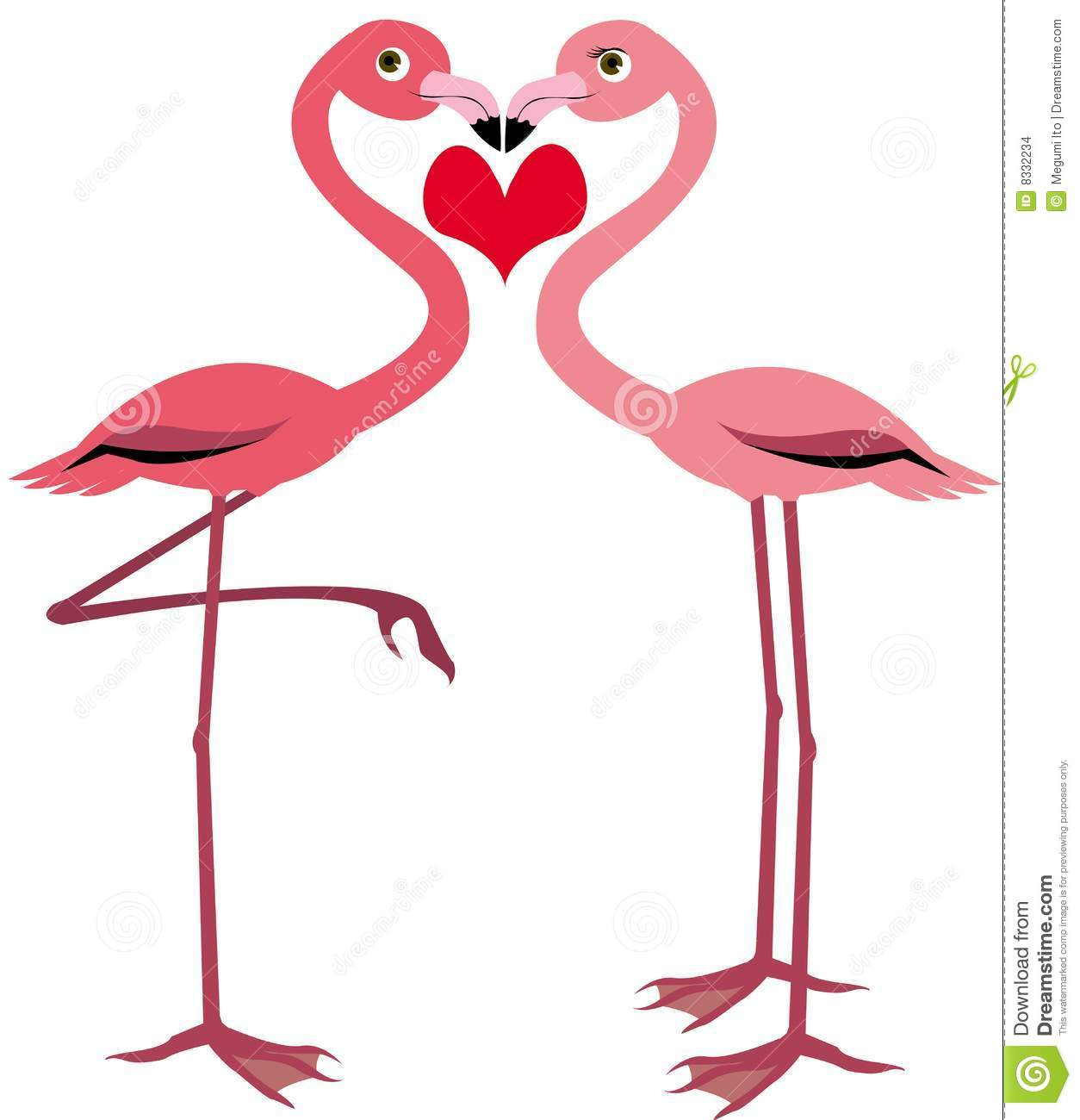 Cute Flamingo Stock Images Image 8332234