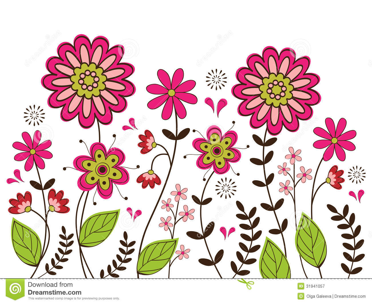 Girly Background Royalty Free Stock Photo: Cute Floral Background Stock Vector. Image Of Flower