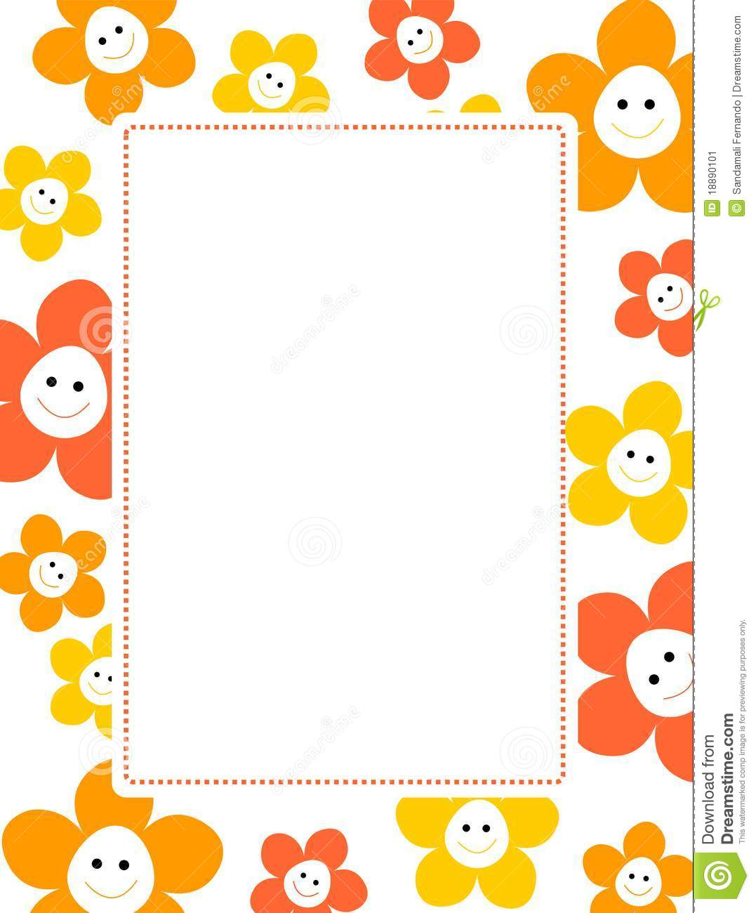 Cute Floral Border Stock Image Image 18890101