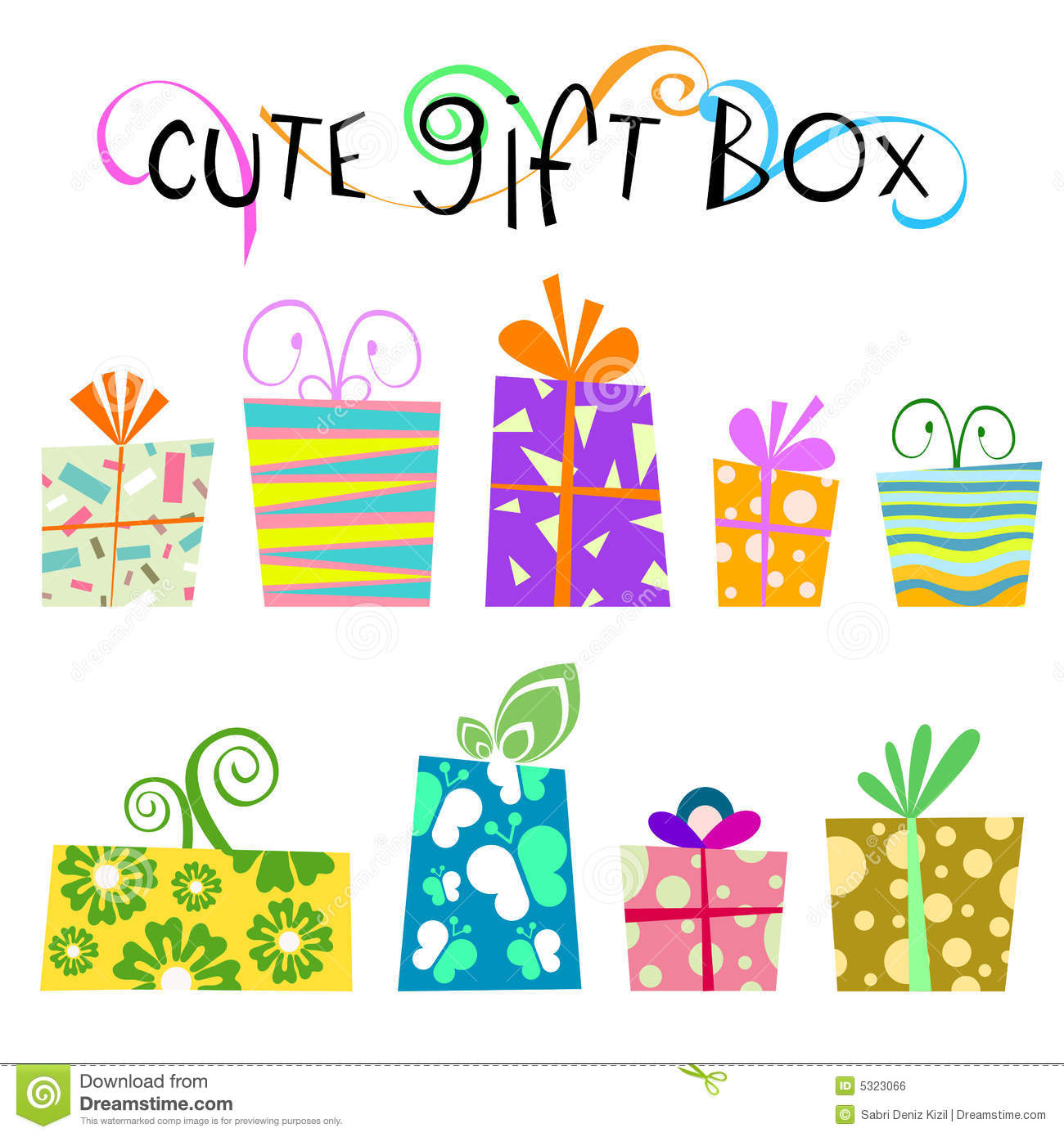 Cute floral gift box vector stock vector illustration of graphic cute floral gift box vector negle Choice Image