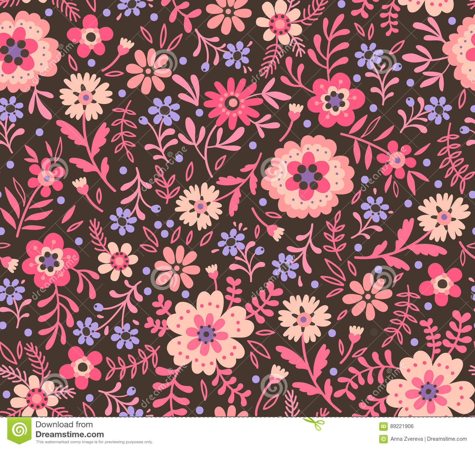 Cute Floral Pattern Stock Illustration Illustration Of Elegant
