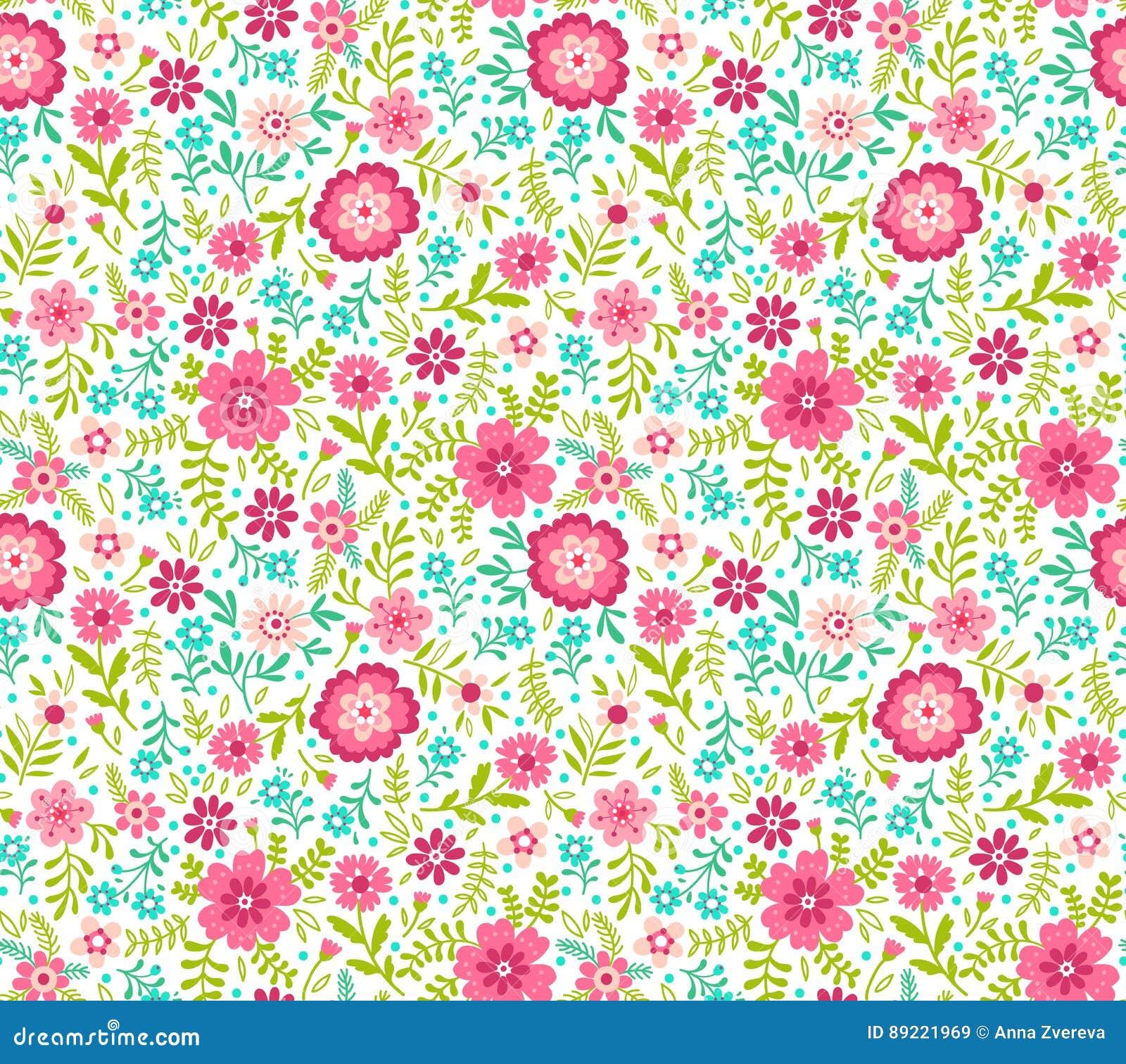 Cute Floral Pattern Stock Illustration Illustration Of Flower