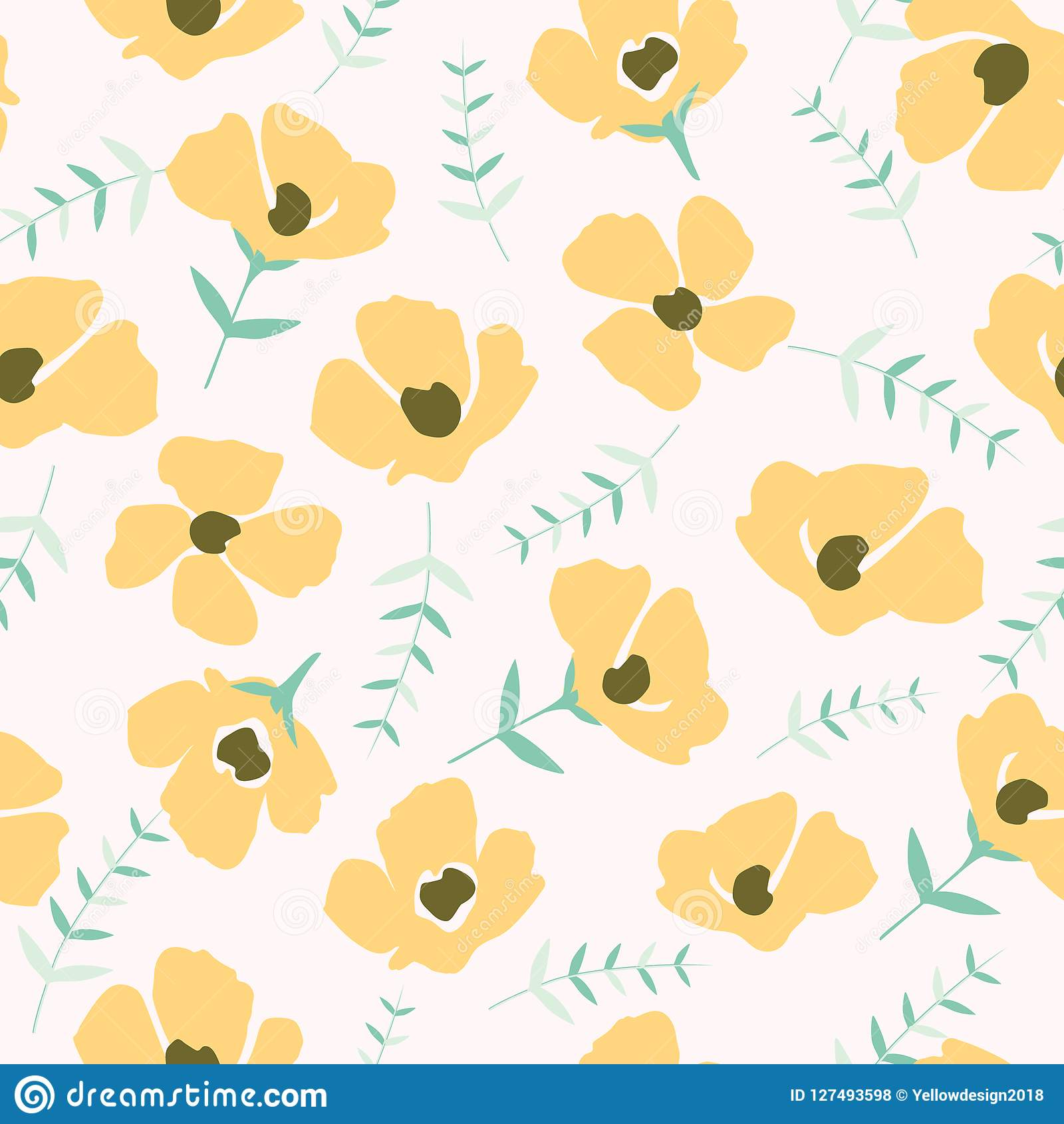 Floral pattern in the small flower.Seamless vector texture