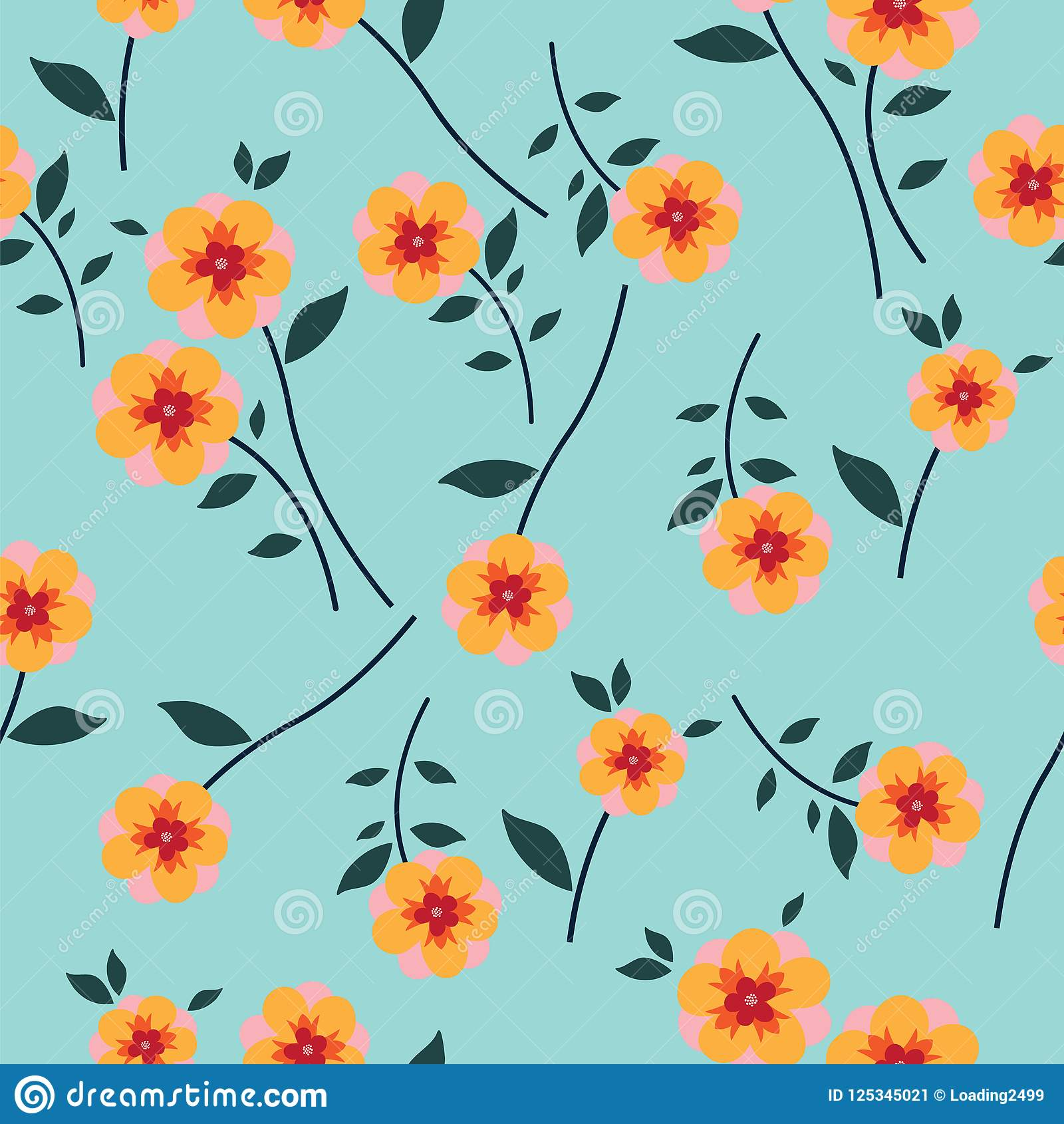 Cute Floral Pattern In The Small Flower Seamless Vector Yellow