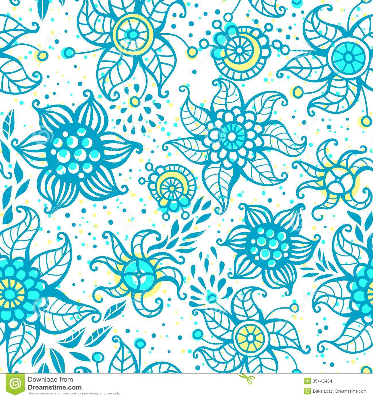 Can I Put Wallpaper On Top Of Wallpaper: Cute Floral Seamless Pattern Stock Images