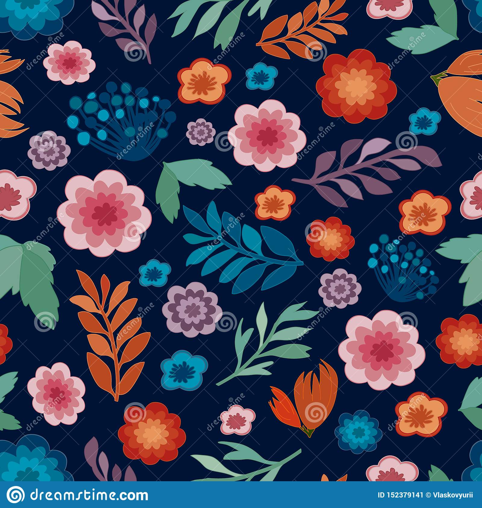 Cute floral seamless texture, repeatable pattern