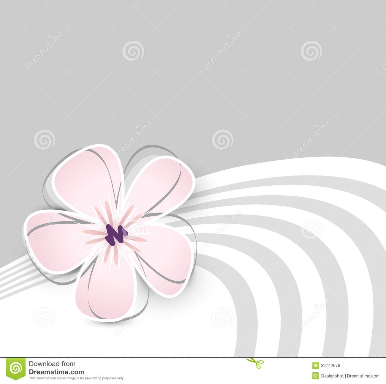 Cute Flower Background Stock Vector Illustration Of Beautiful