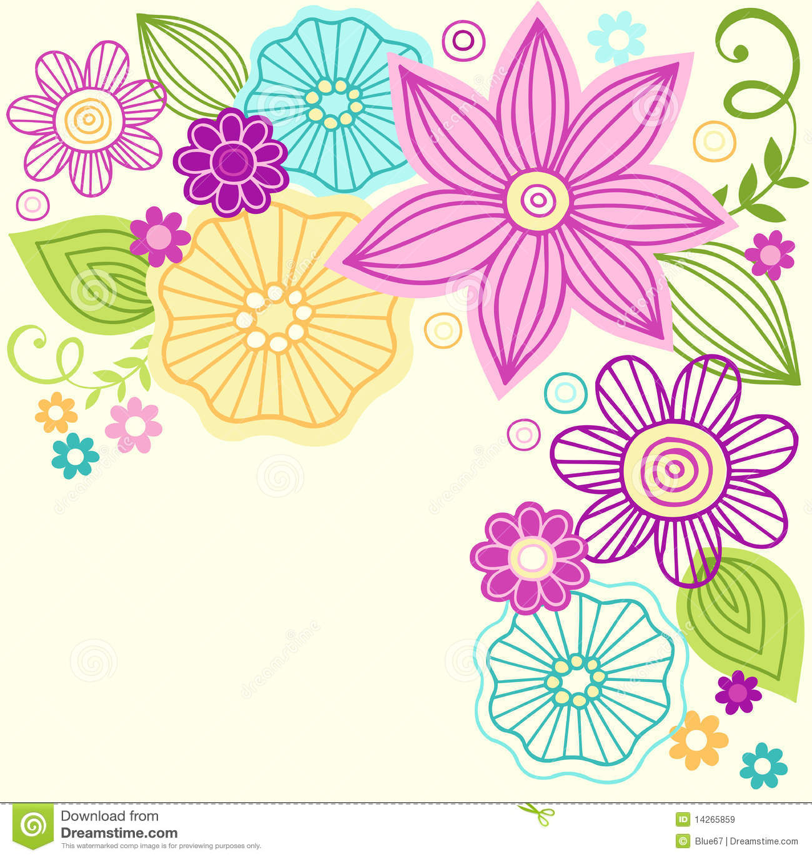 cute flower doodle vector design stock vector