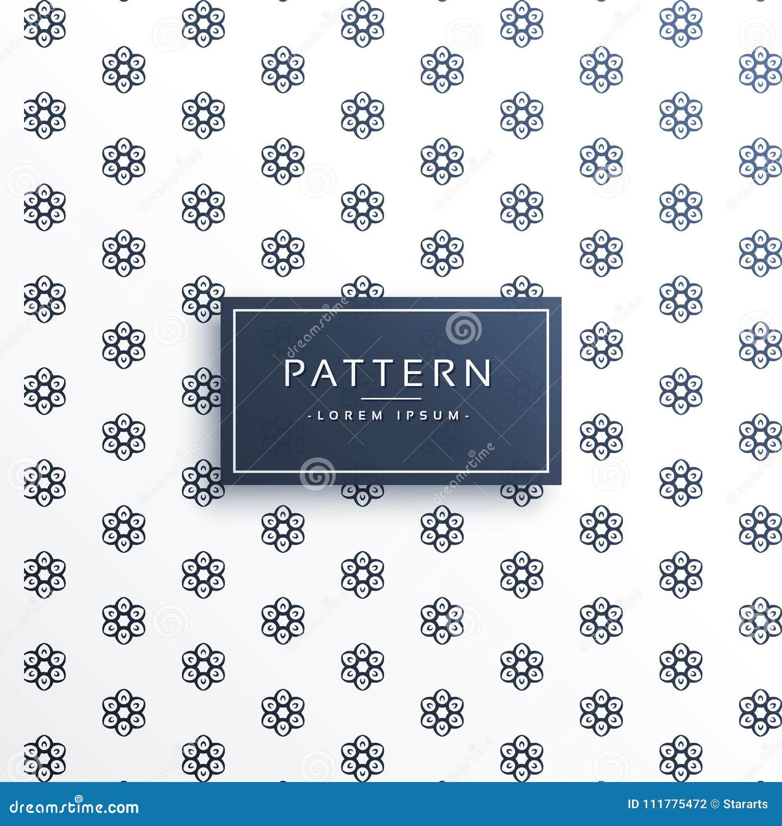 Cute flower pattern design background