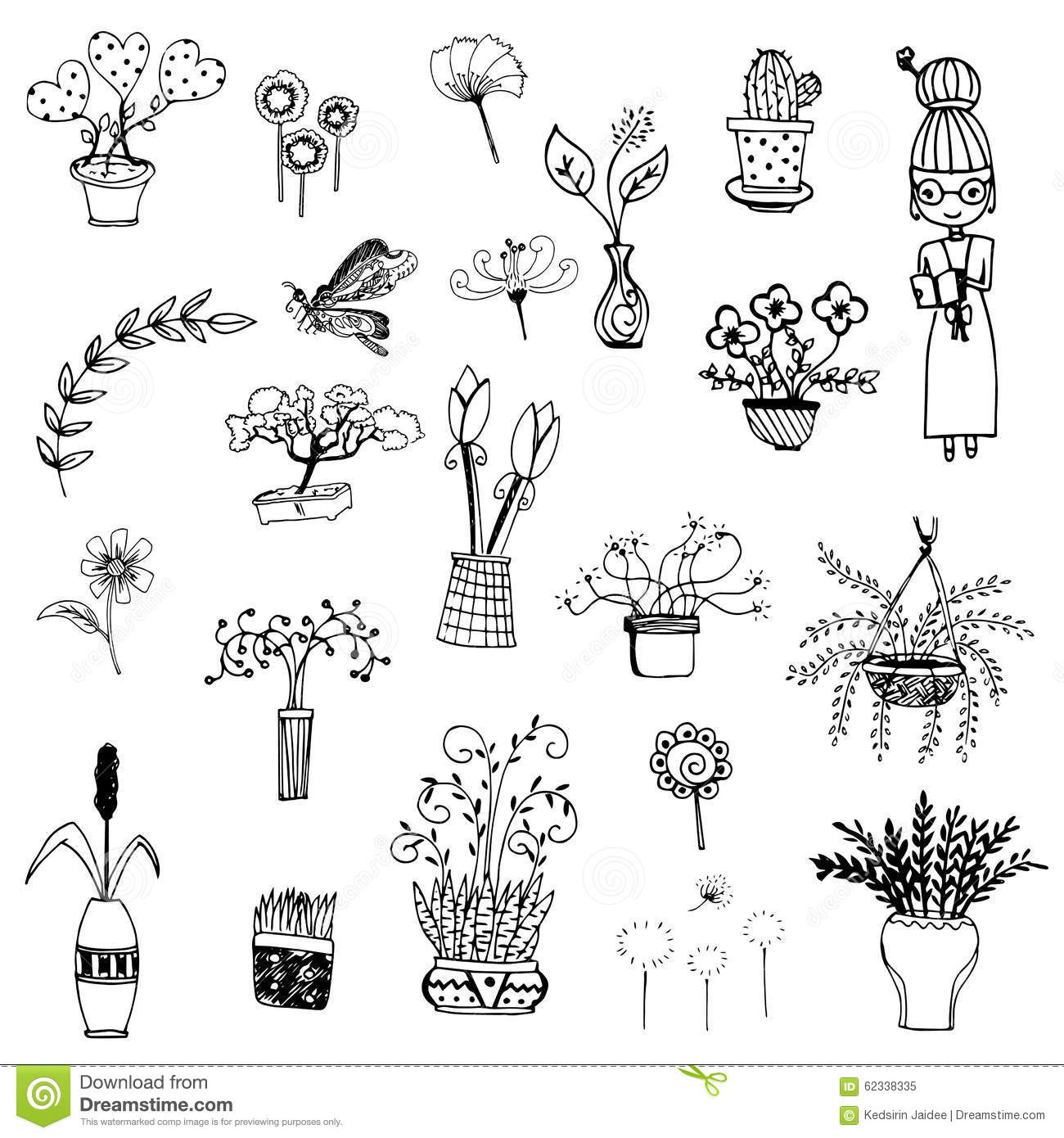Cute flower sketch vector stock vector image 62338335 for Sketch online free