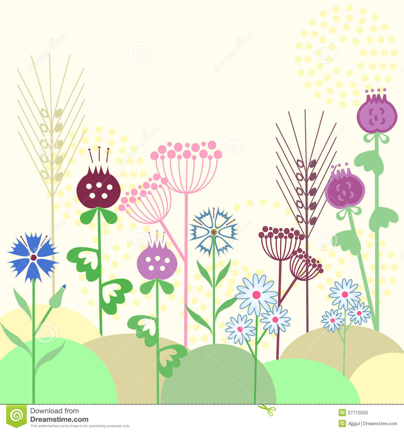 Cute Flowers Background Stock Photo
