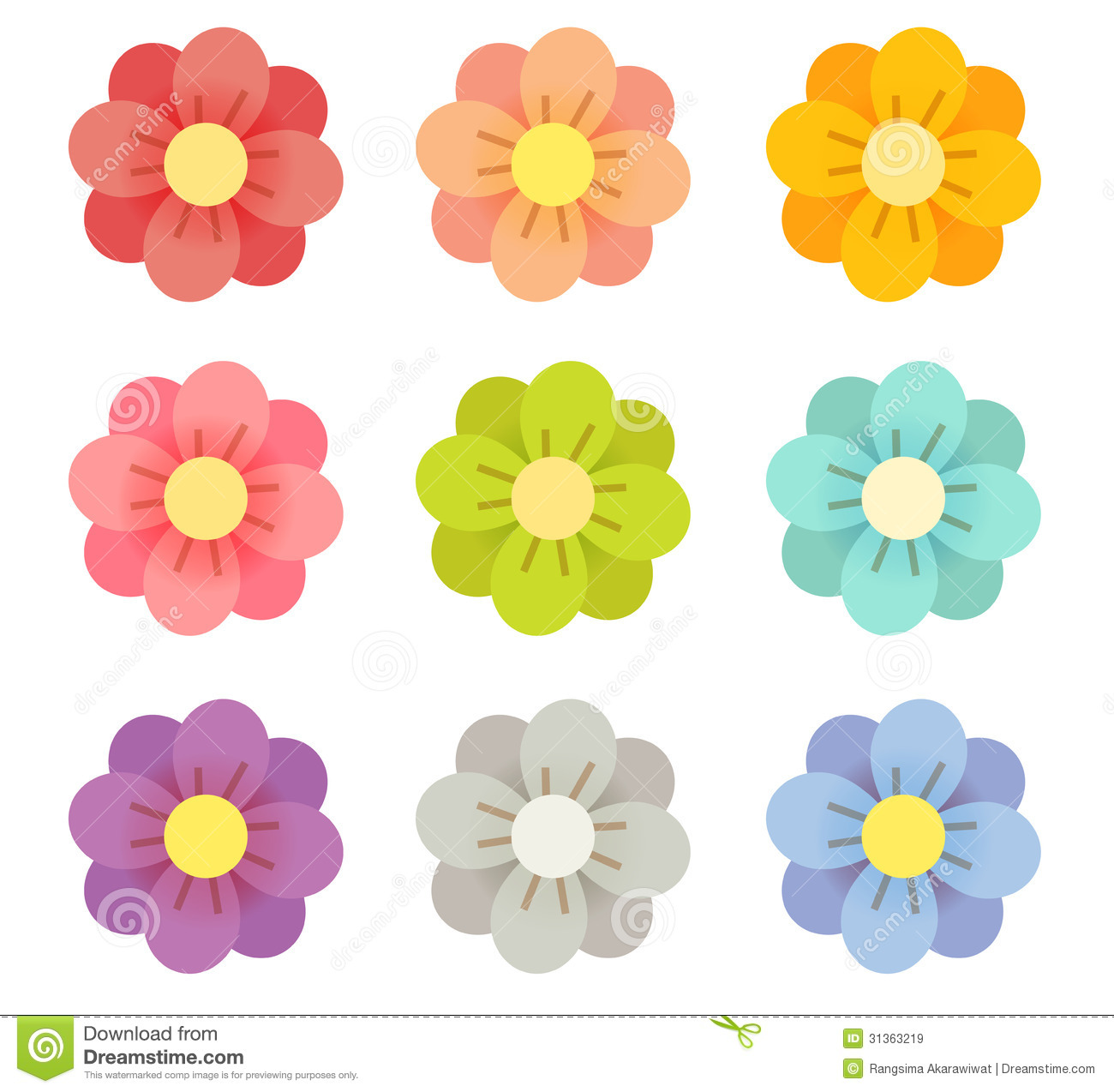 Cute Flowers Royalty Free Stock Images - Image: 31363219