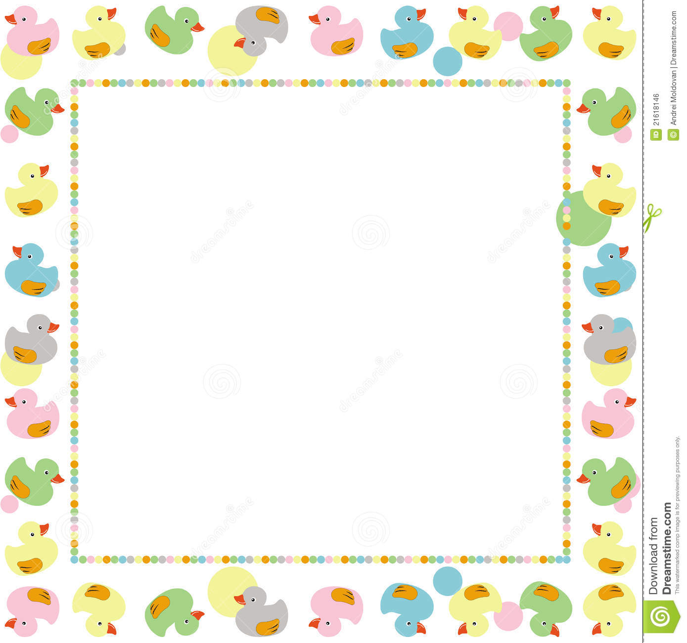 Cute Frame For Children Made With Ducks Vector Stock Vector ...