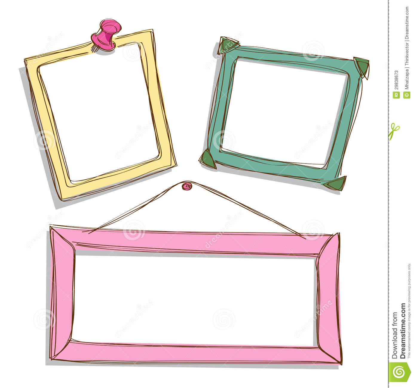 Cute Frame Doodle Stock Photos - Image: 29838673