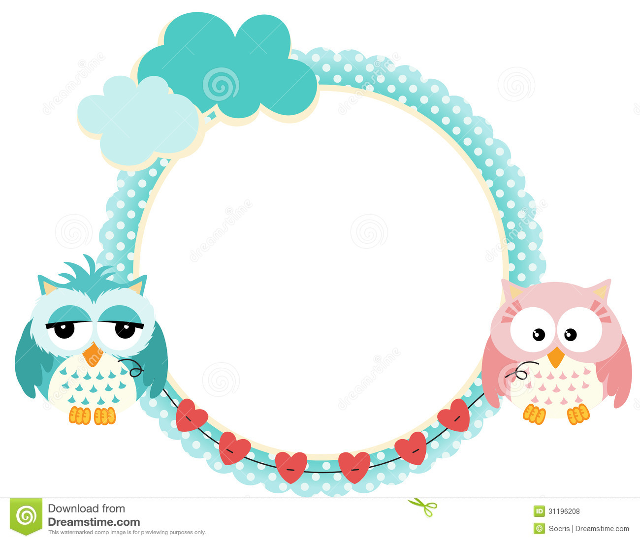 cute frame with owls couple royalty free stock photos  image  - couple frame