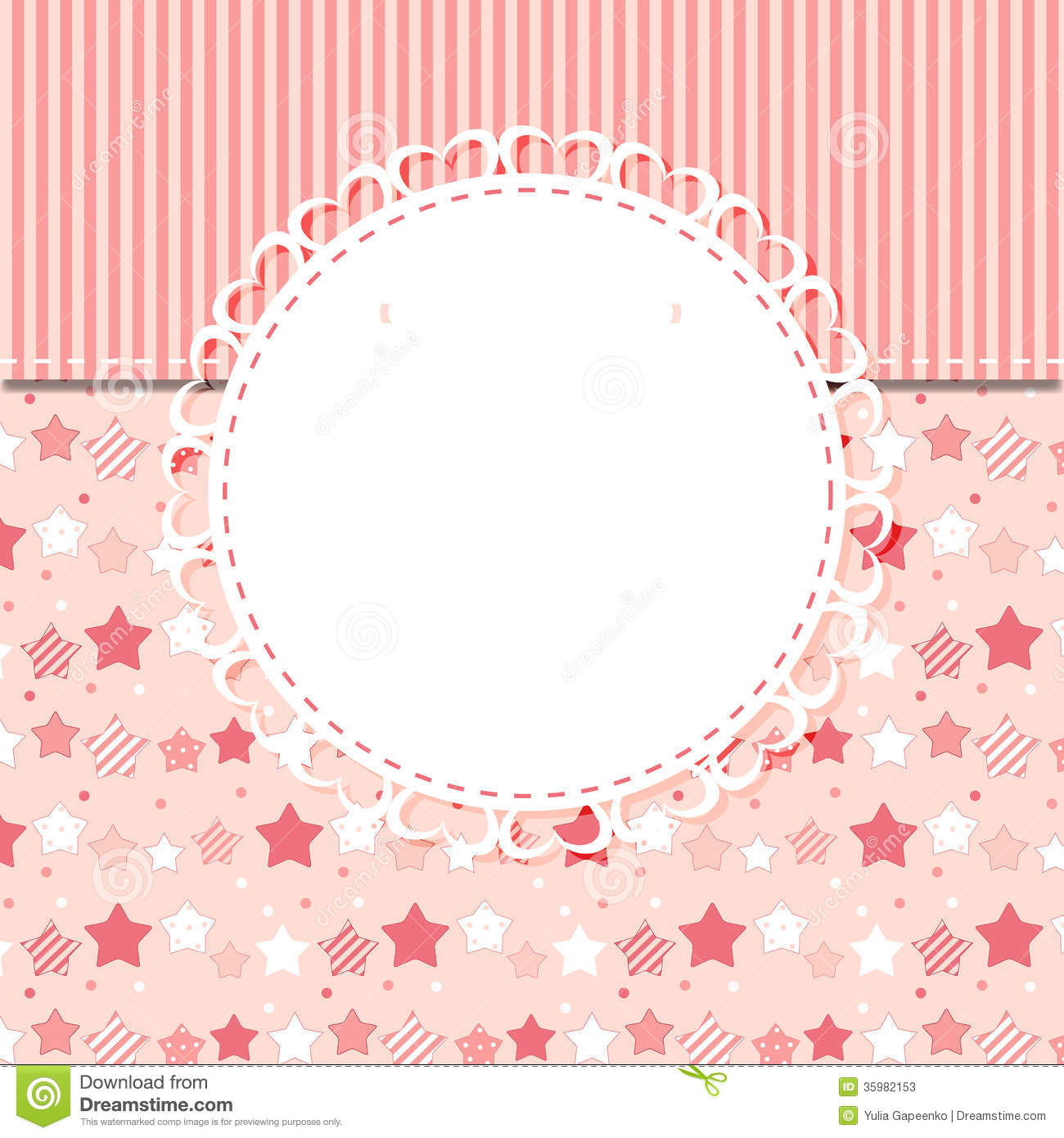 Cute Frame With Rose Flowers Vector Illustration Stock Vector ...