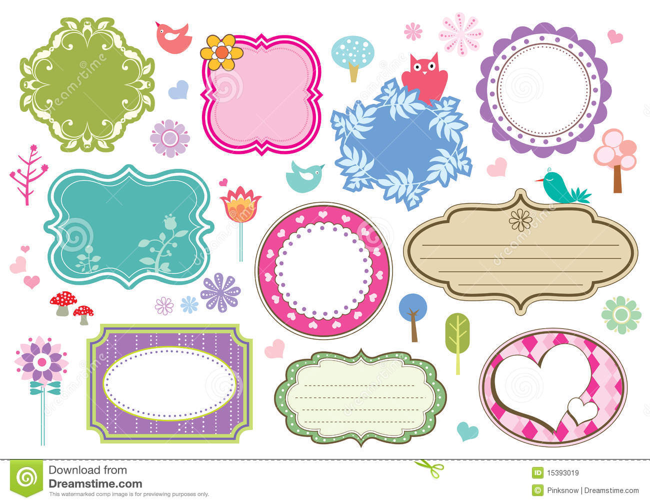 cute photo frames free download cute frames royalty free stock