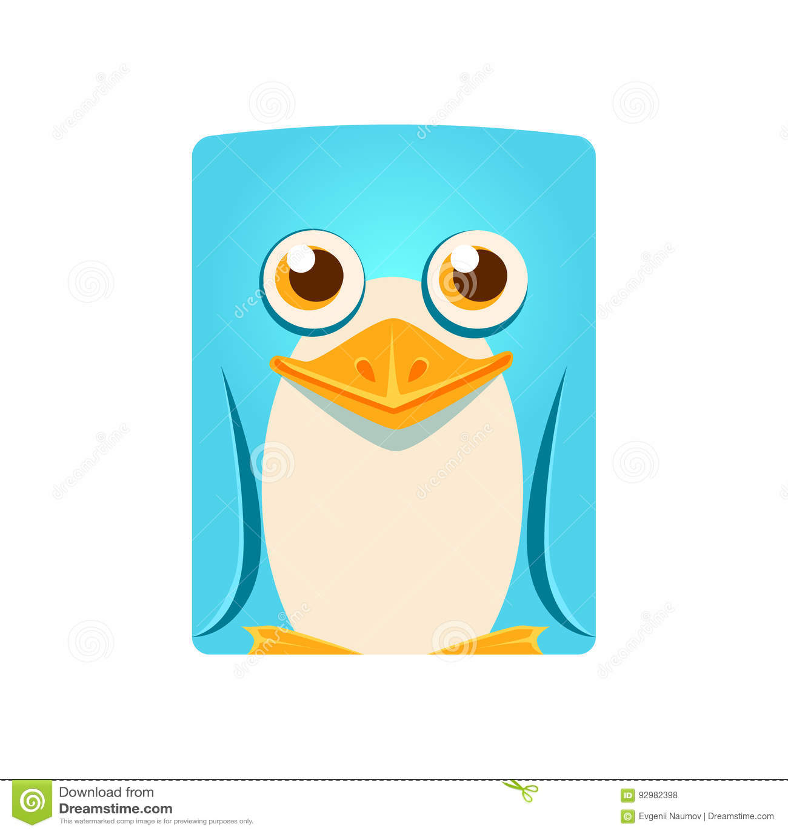 Vector Character Design Illustrator : Cute friendly geometric penguin bird colorful cartoon