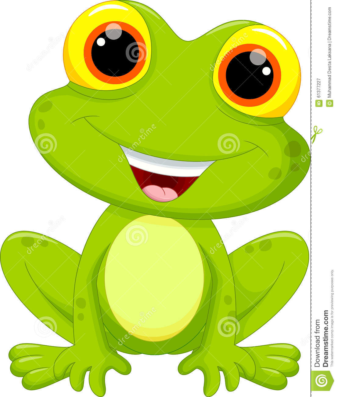 Cute Frog Cartoon Stock Illustration - Image: 61377227