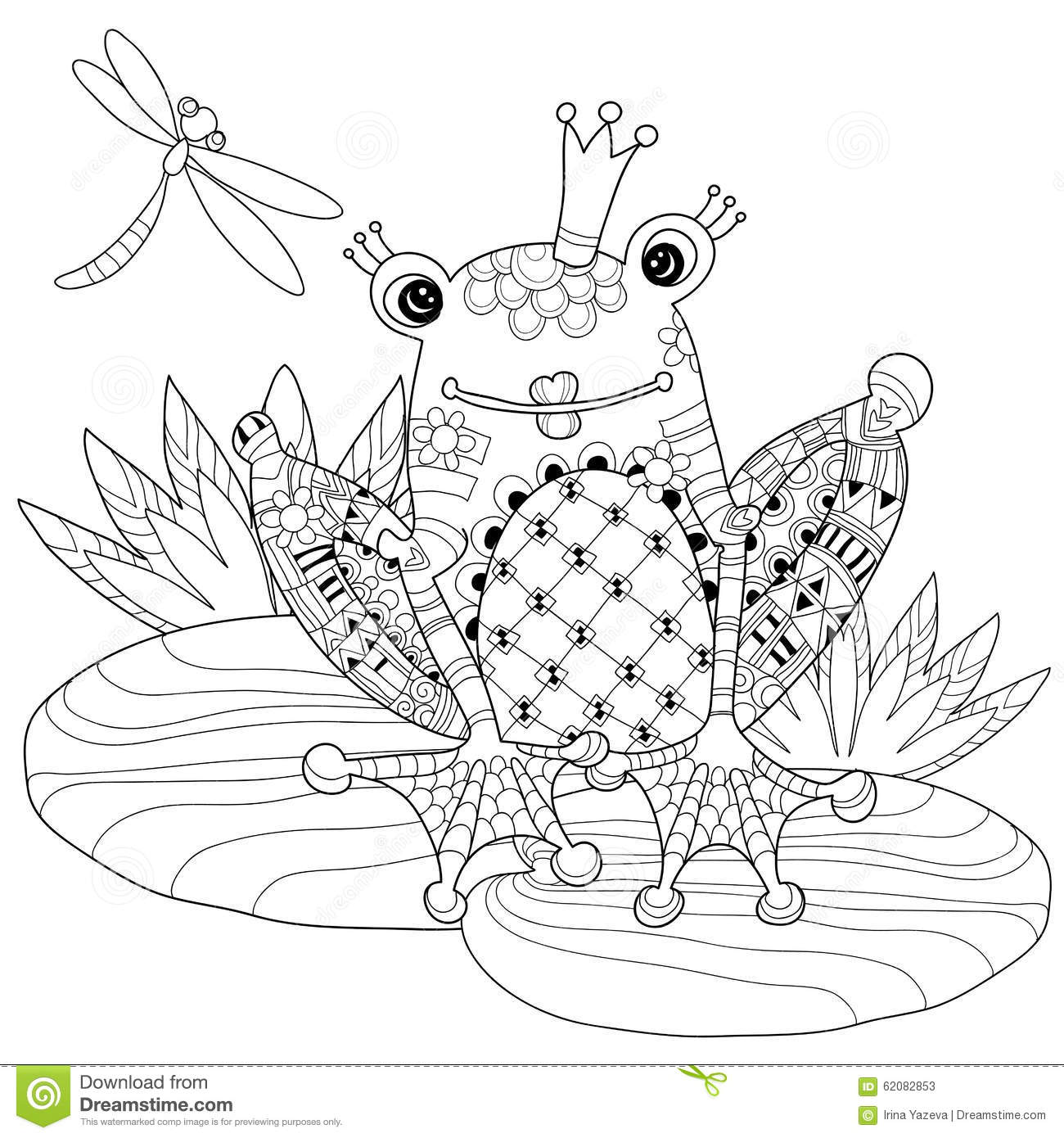 Princess And The Frog Kissing Coloring Pages