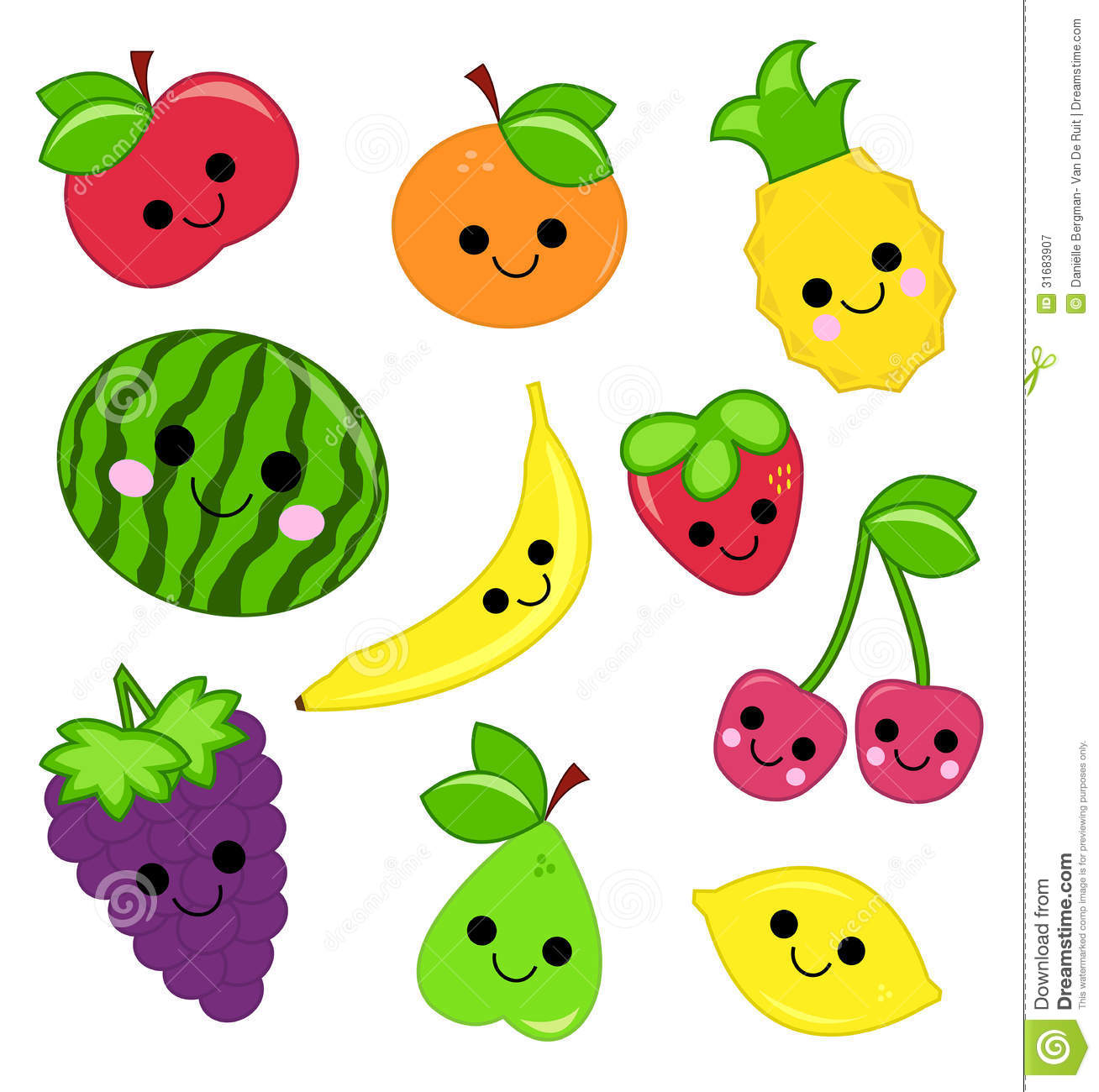 Cute Fruit Royalty Free Stock Photography Image 31683907