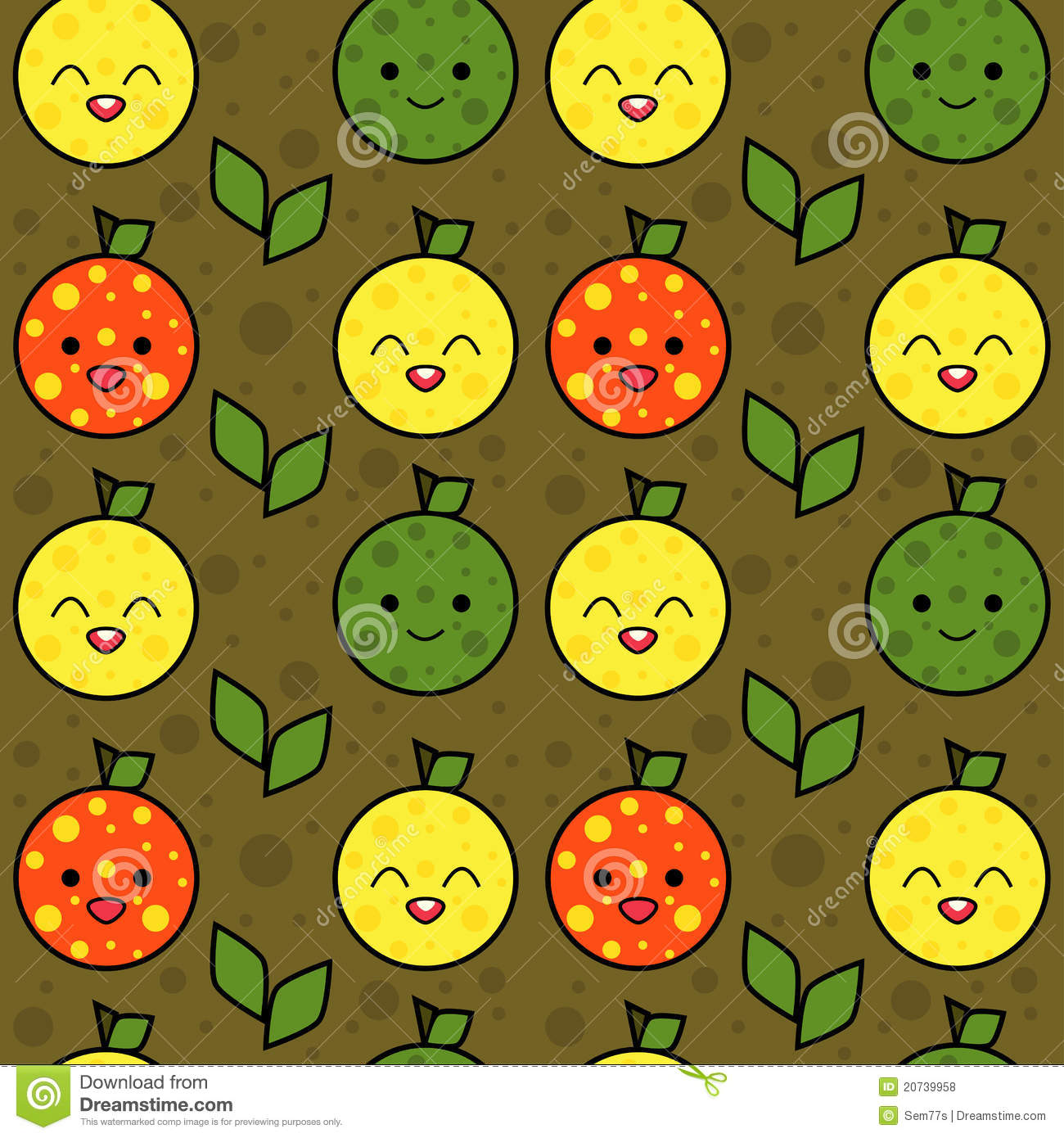 Cute Fruits Background Royalty Free Stock Photos - Image: 20739958