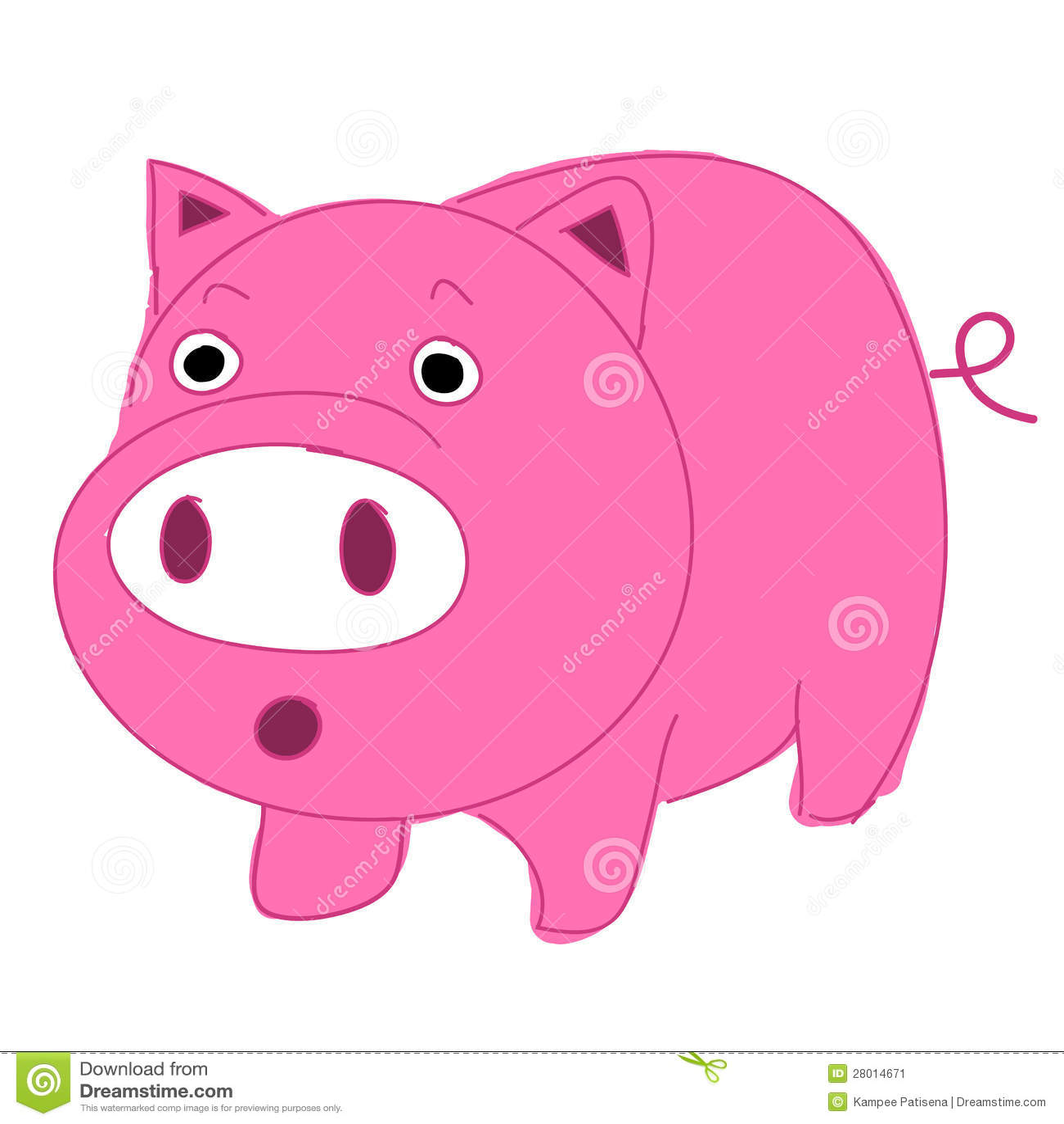 Cute, Fun And Funny Cartoon Pig Stock Image - Image: 28014671