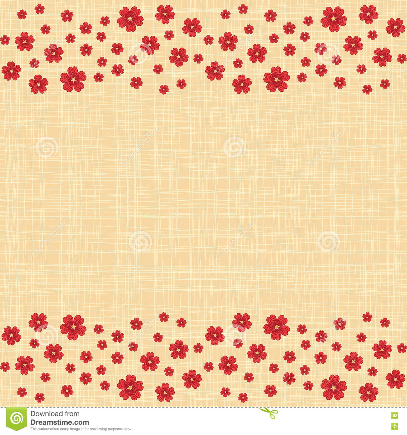 a61d29fdbb3 Cute Funny Background Border Frame With Flowers Stock Vector ...