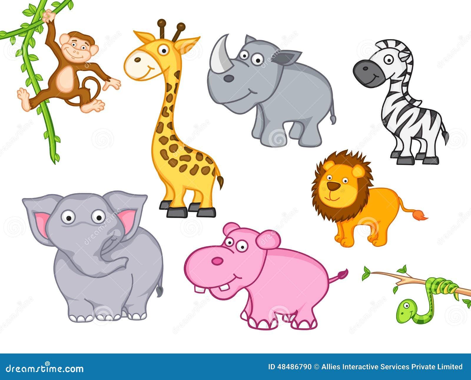 Cute Funny Cartoon Animal Stock Illustration